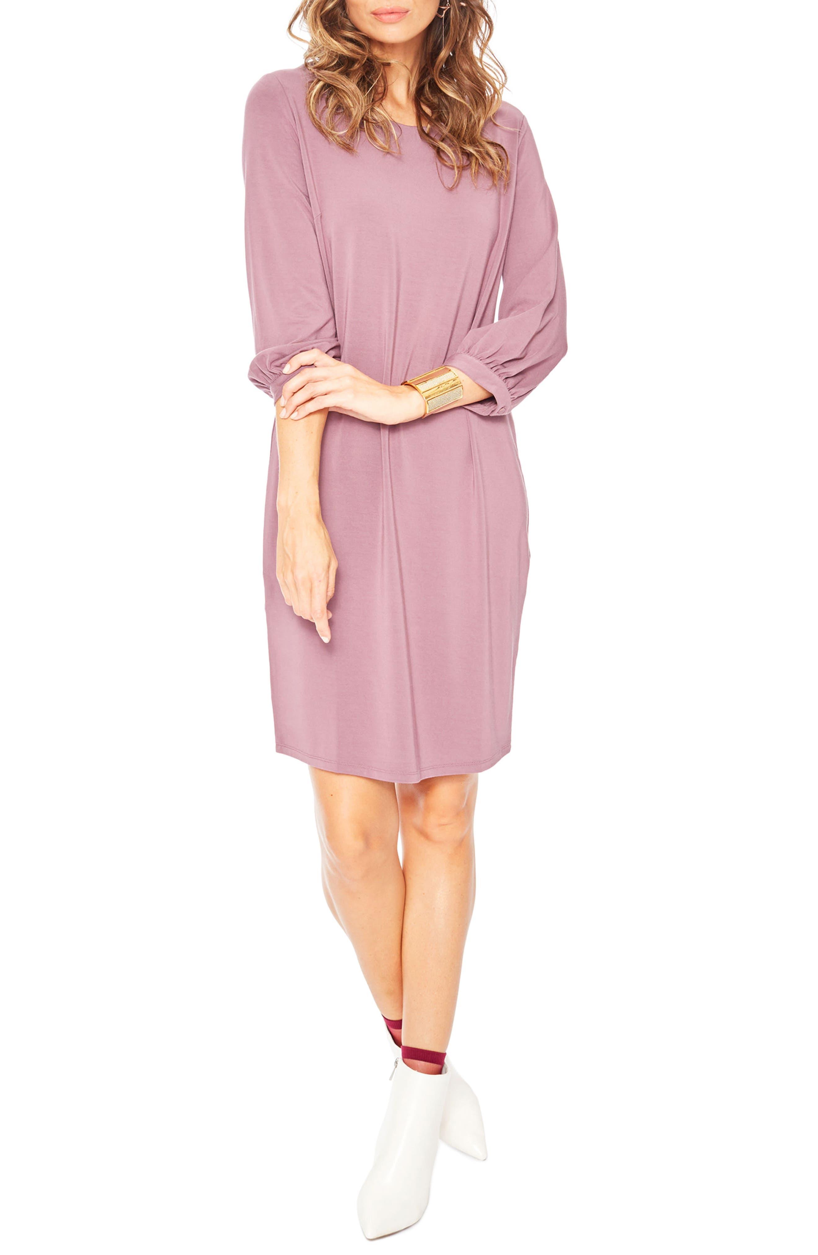'Hampton' Maternity Dress,                             Main thumbnail 1, color,                             Stone Rose