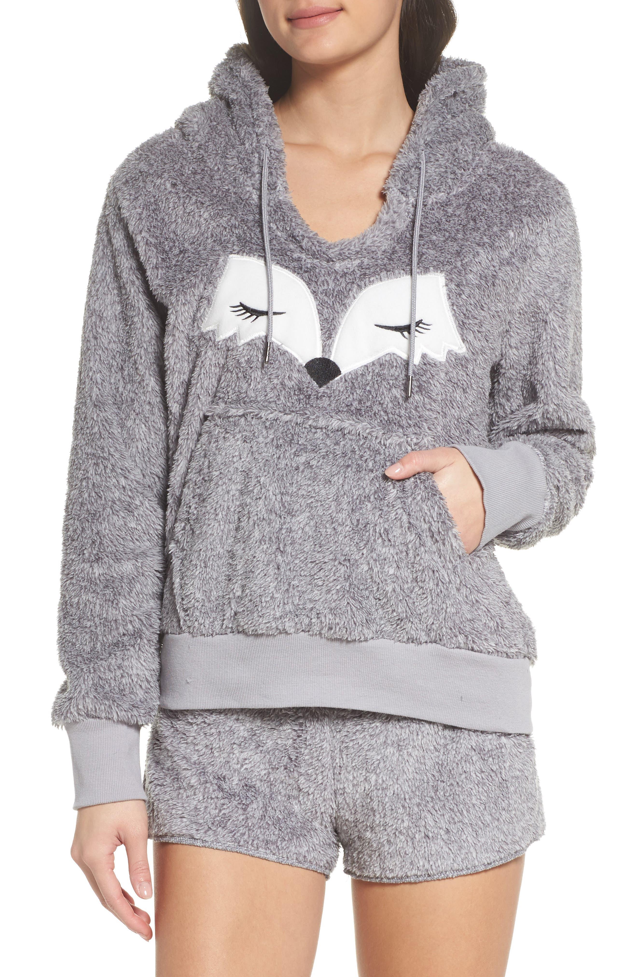 Main Image - COZY ZOE Hooded Plush Pajamas