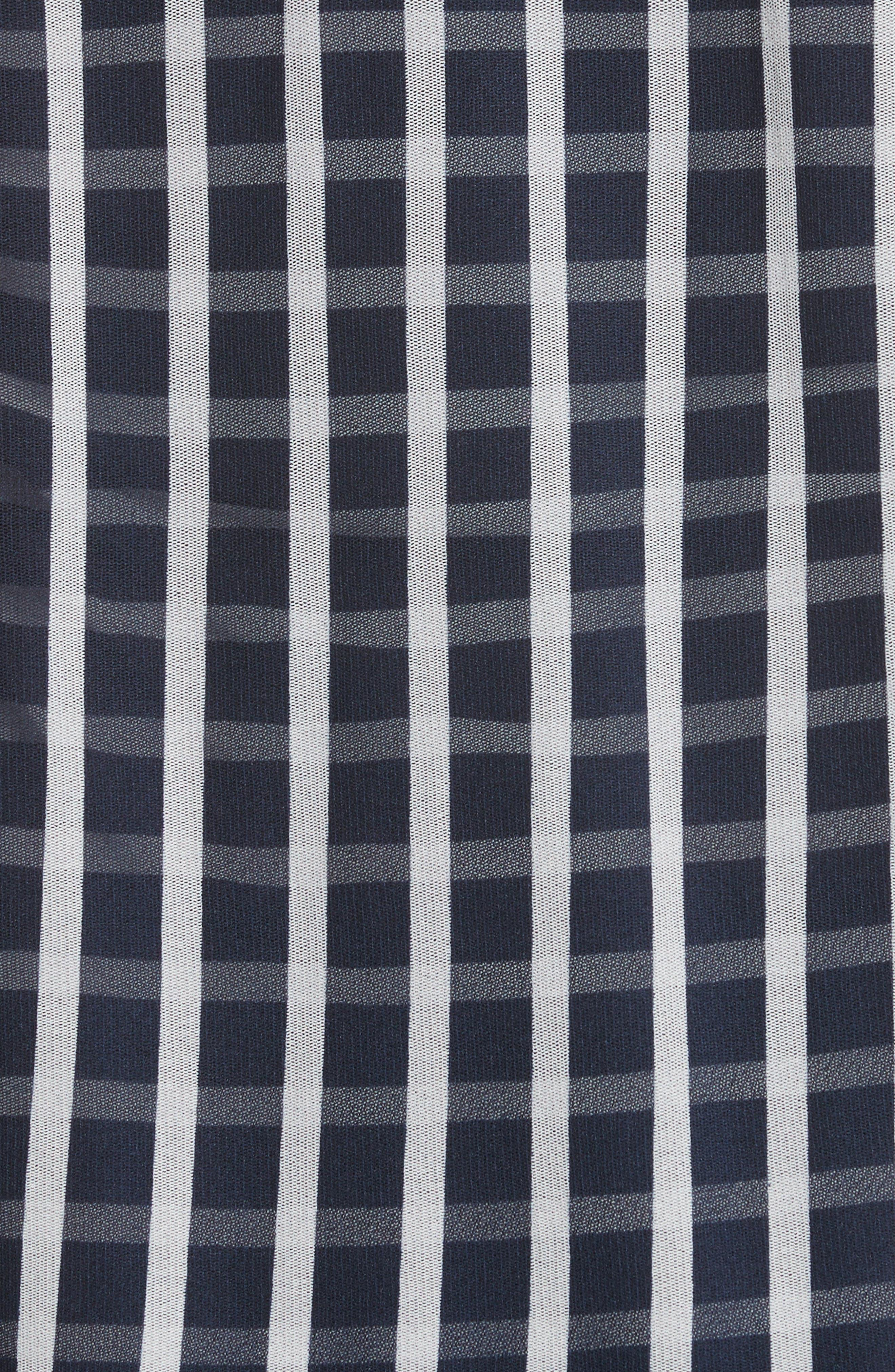 Striped Blouson Cardigan,                             Alternate thumbnail 5, color,                             Zaffiro
