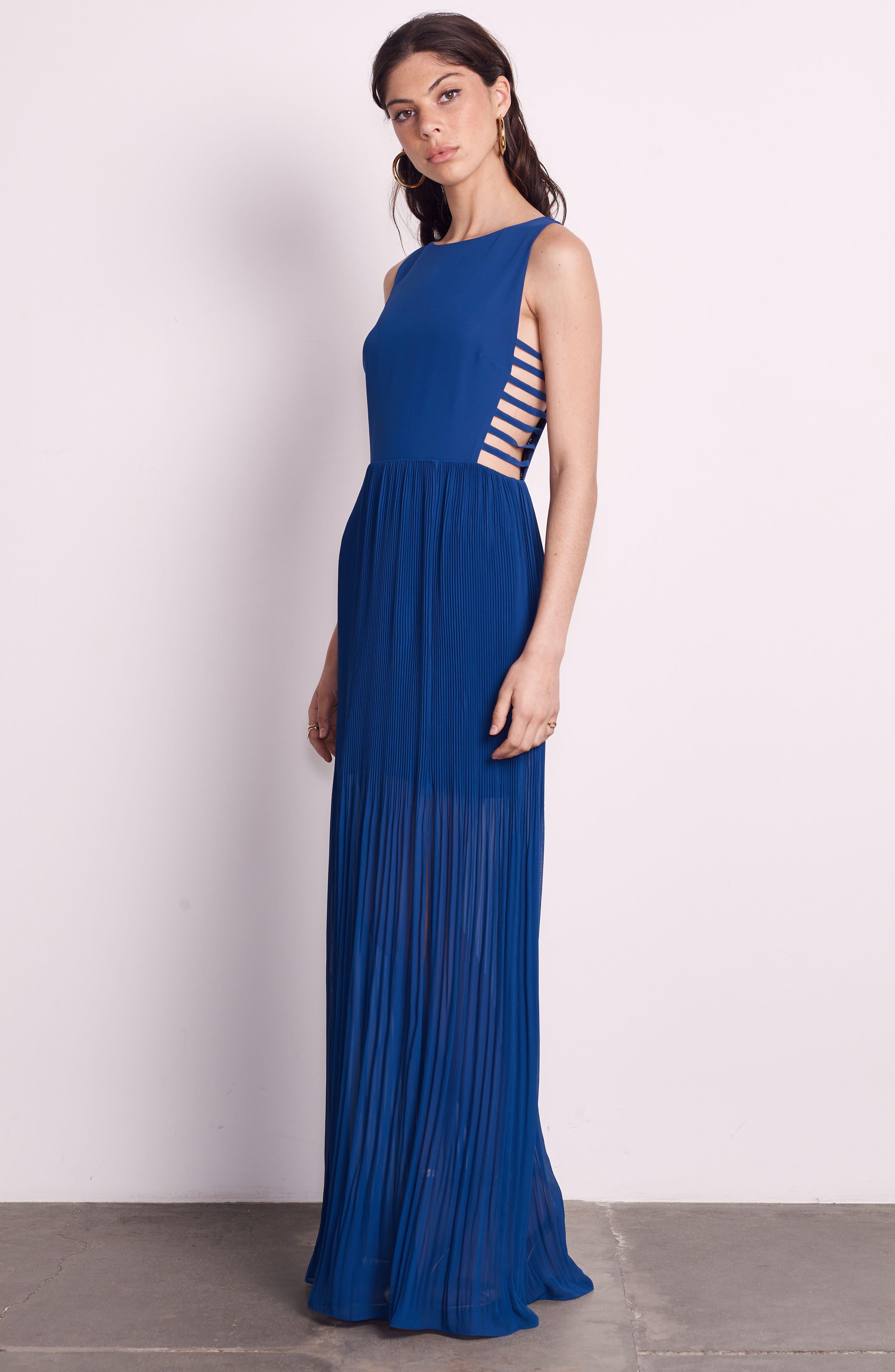 Sunset Blvd Maxi Dress,                             Alternate thumbnail 2, color,                             French Blue