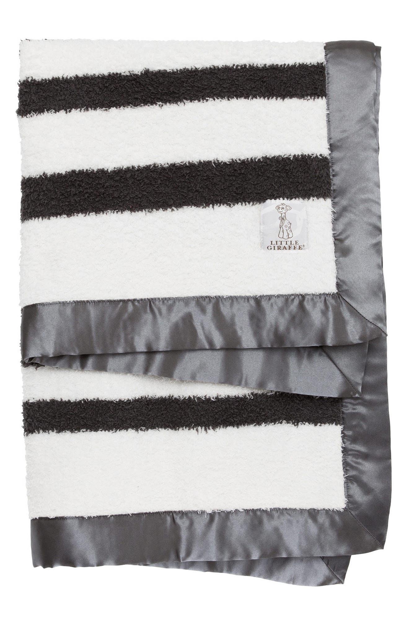 Little Giraffe Stripe Chenille Blanket
