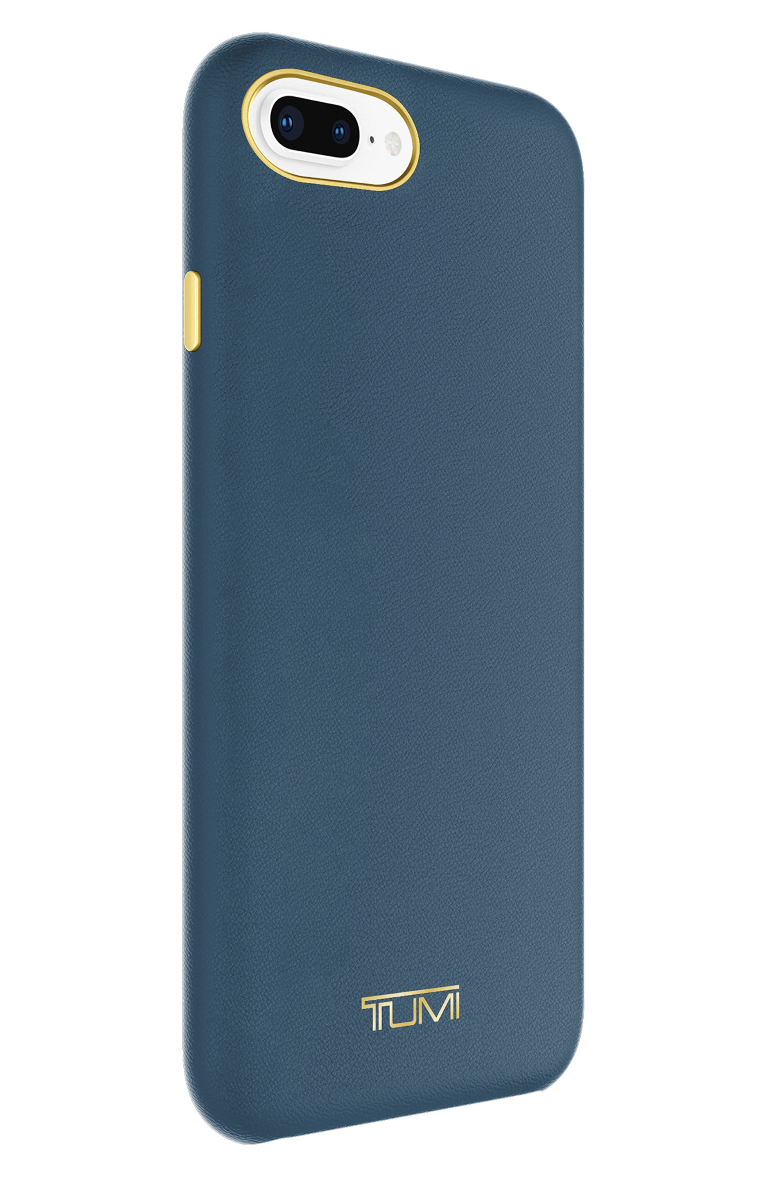Leather Wrap iPhone 8 Plus Case,                             Alternate thumbnail 2, color,                             Navy