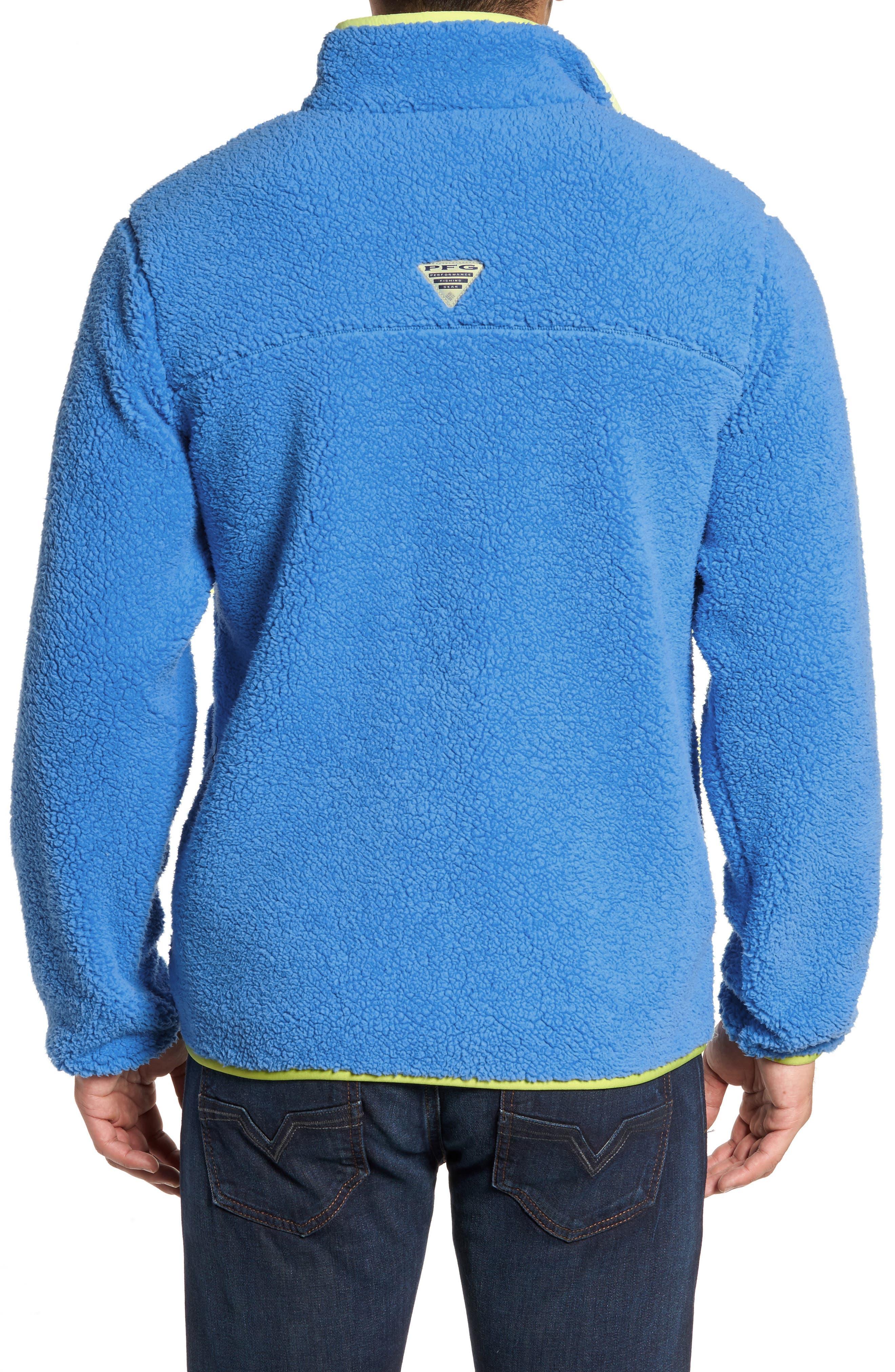 Harborside Fleece Jacket,                             Alternate thumbnail 2, color,                             Harbor Blue/ Neon Light