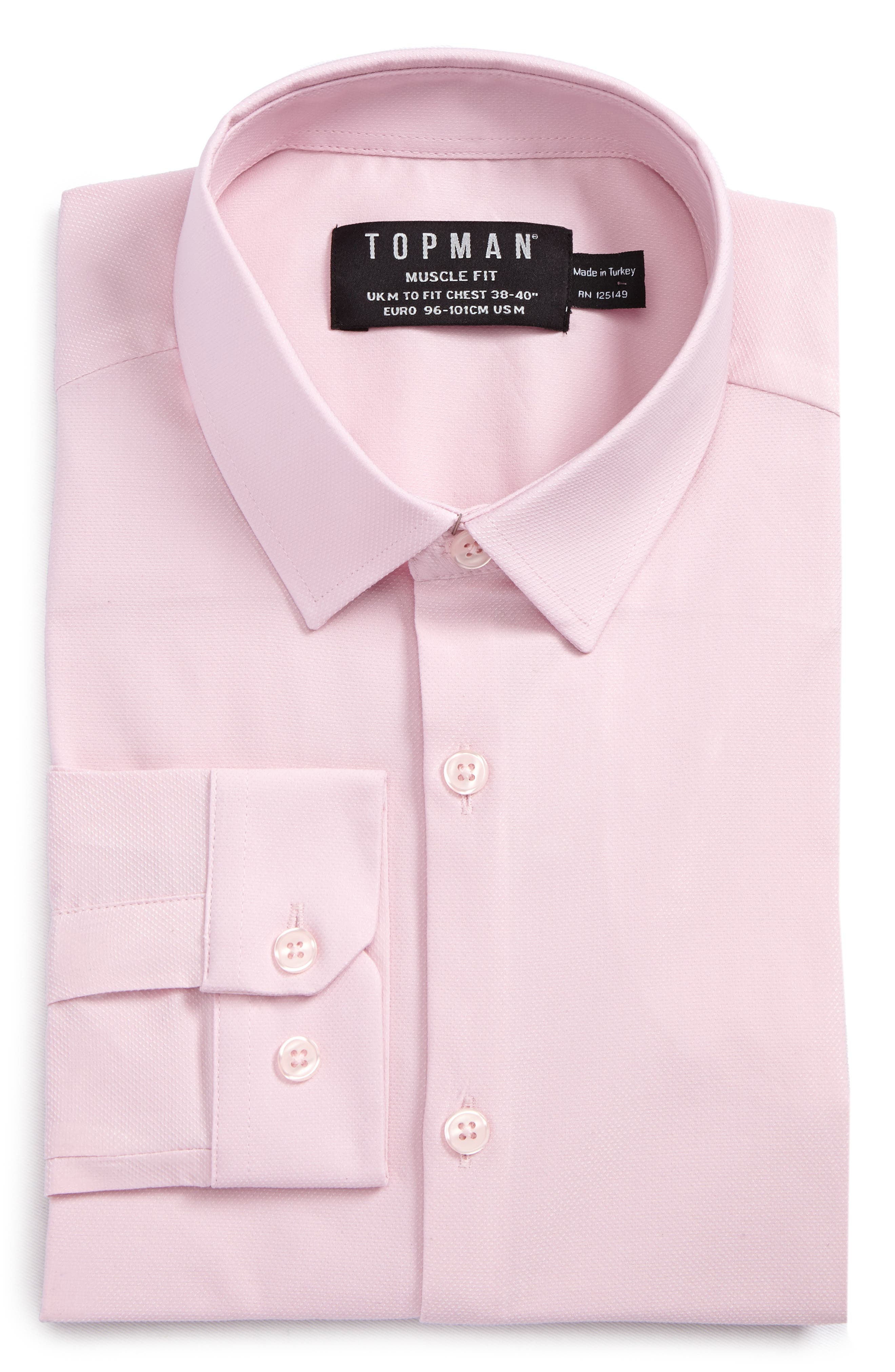 Alternate Image 5  - Topman Muscle Fit Dress Shirt