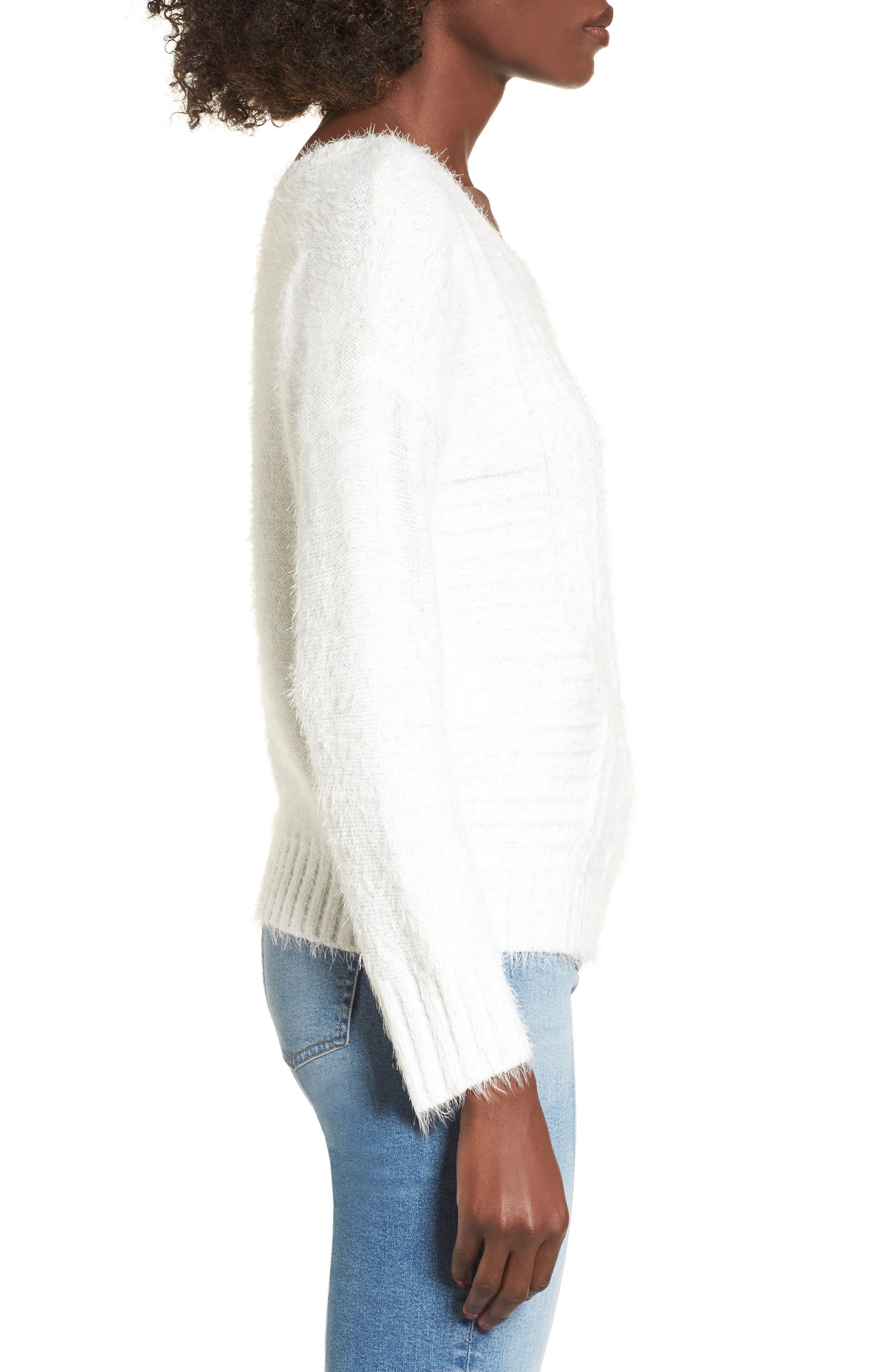 Alternate Image 3  - Raga Emily Eyelash Knit Sweater