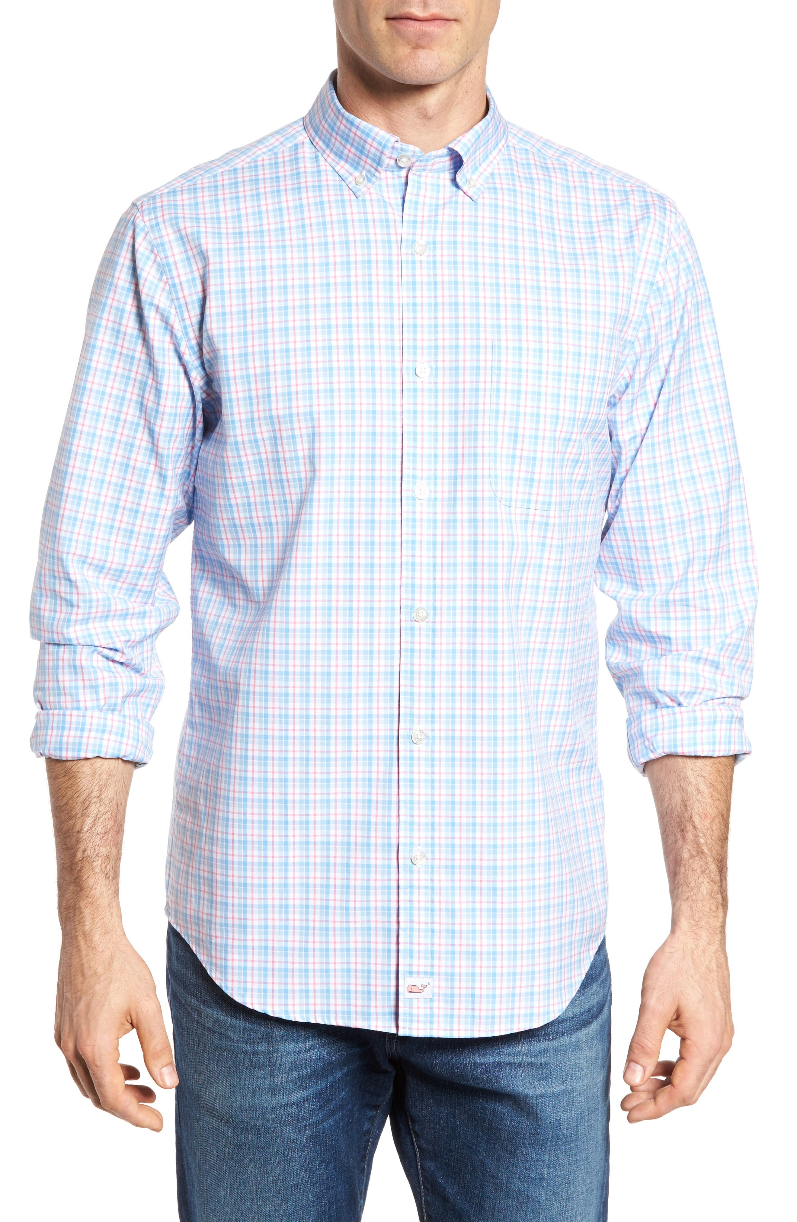 vineyard vines Off Island Classic Fit Plaid Sport Shirt