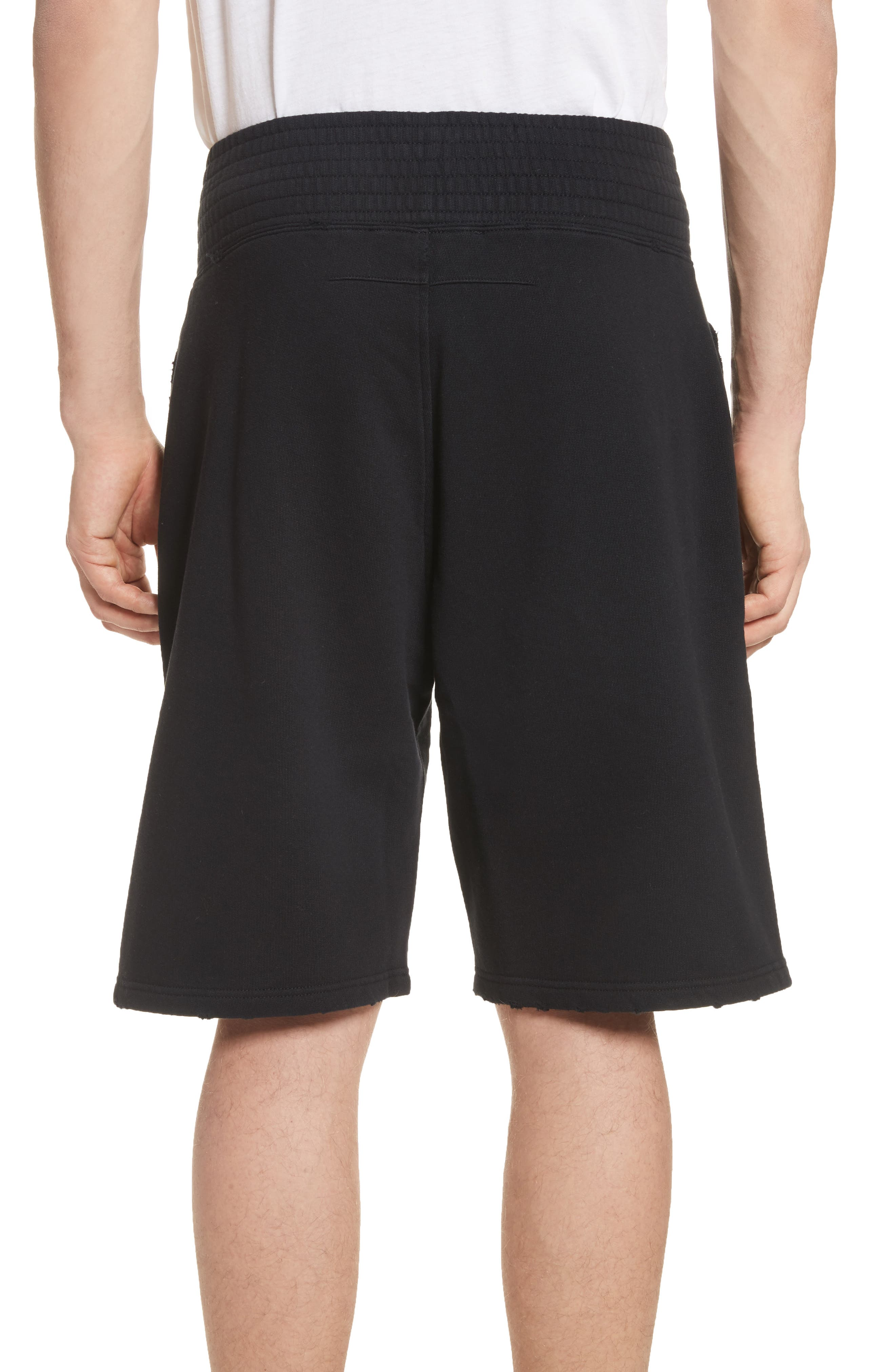 Knit Boxing Shorts,                             Alternate thumbnail 2, color,                             Black
