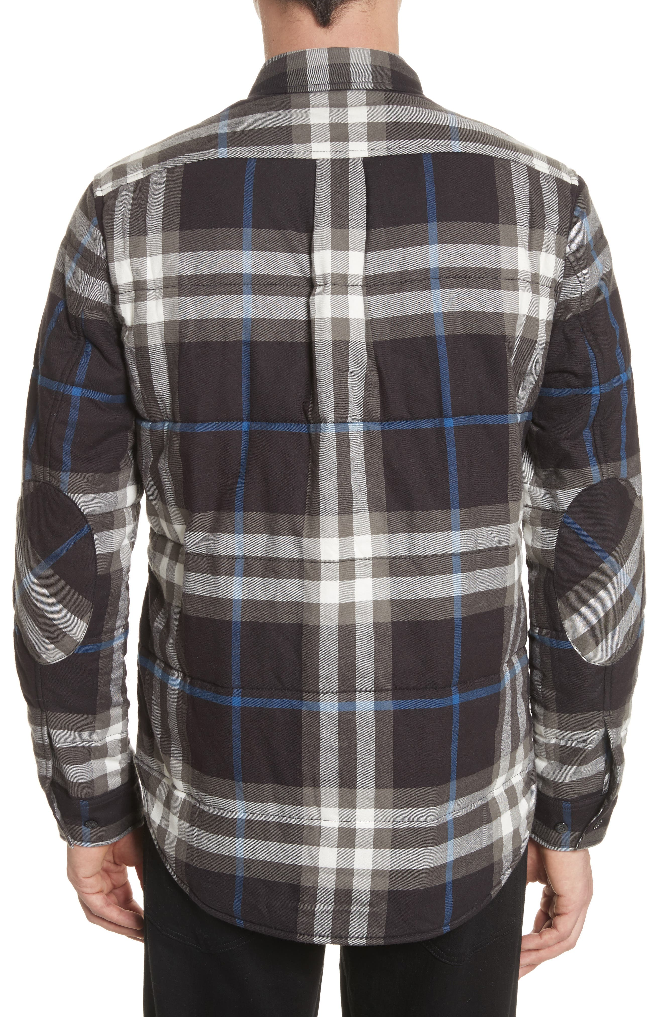 Walsden Plaid Flannel Shirt Jacket,                             Alternate thumbnail 2, color,                             Black