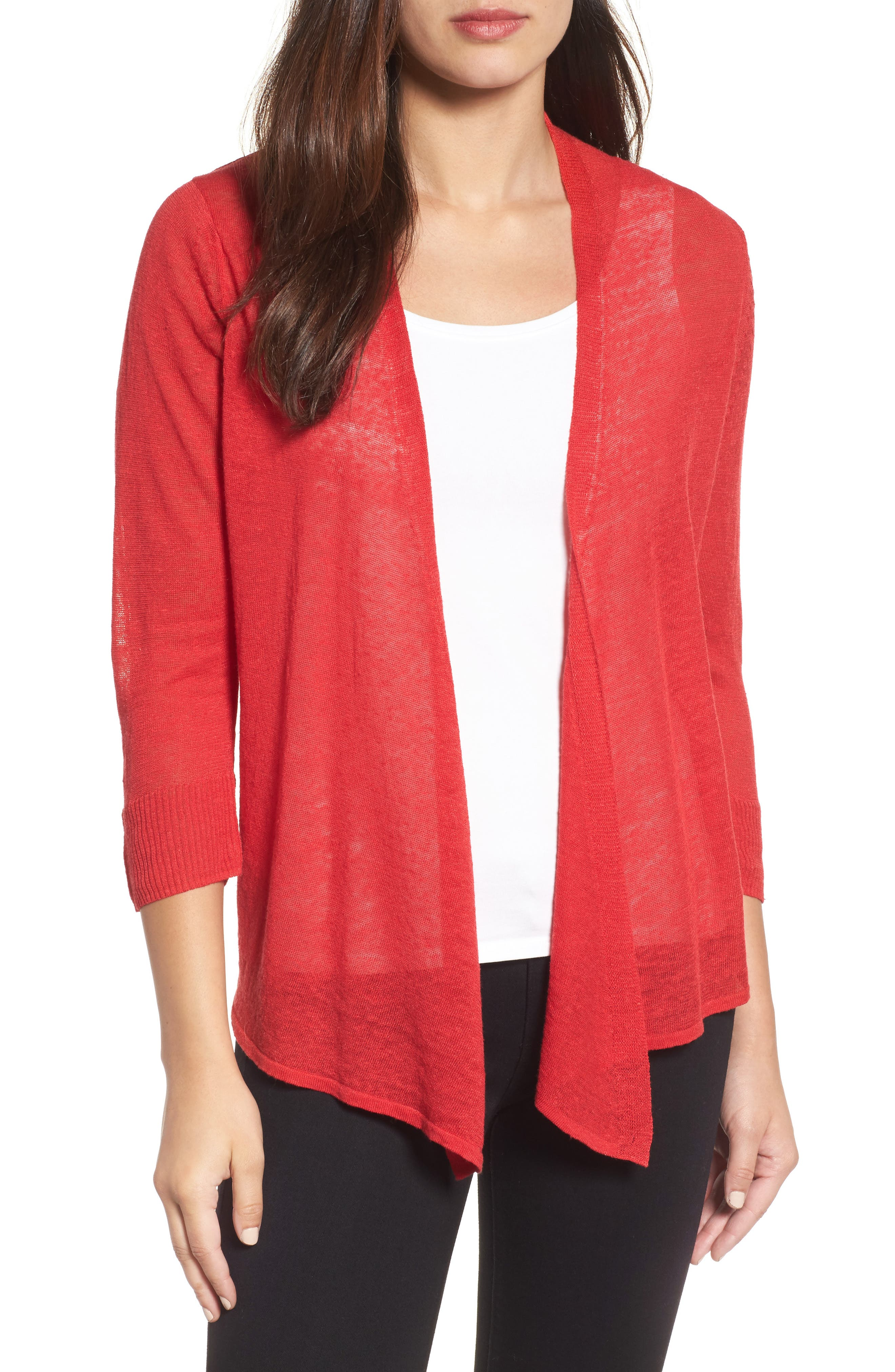 4-Way Cardigan,                         Main,                         color, True Red