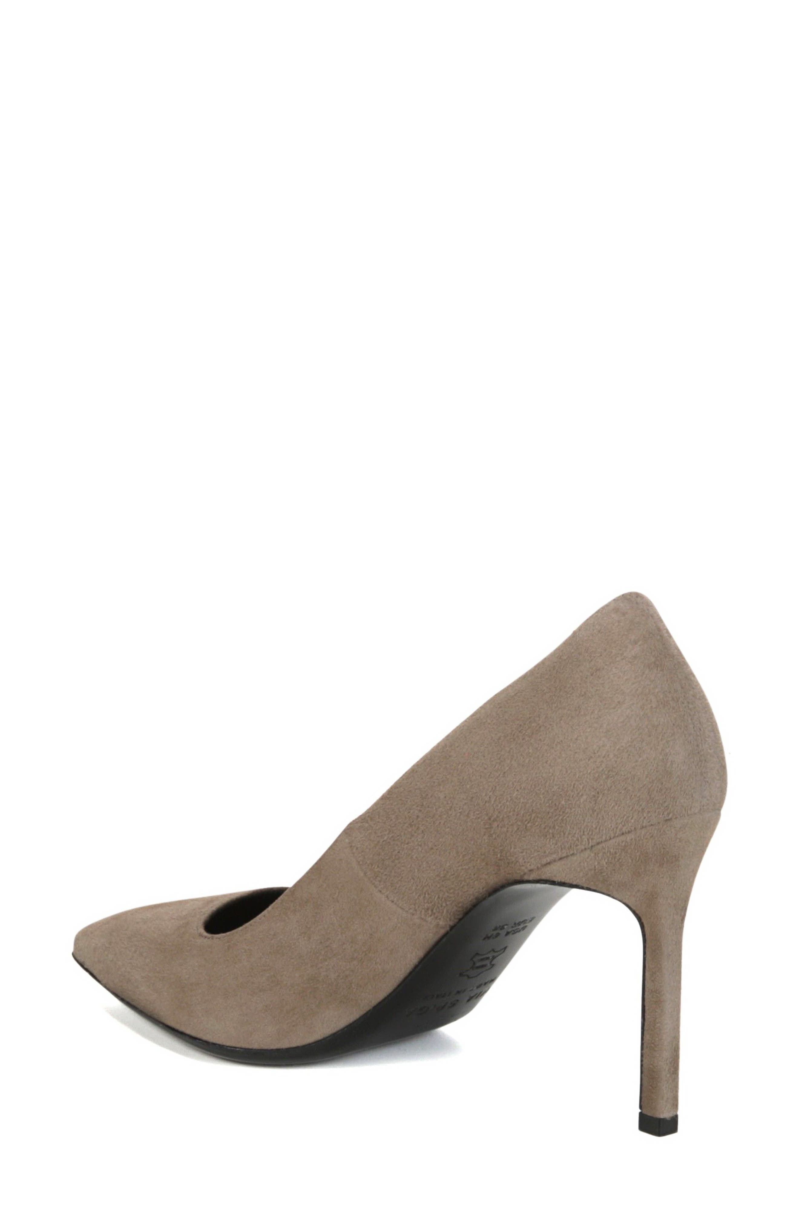 Nikole Pointy Toe Pump,                             Alternate thumbnail 2, color,                             Mink Suede