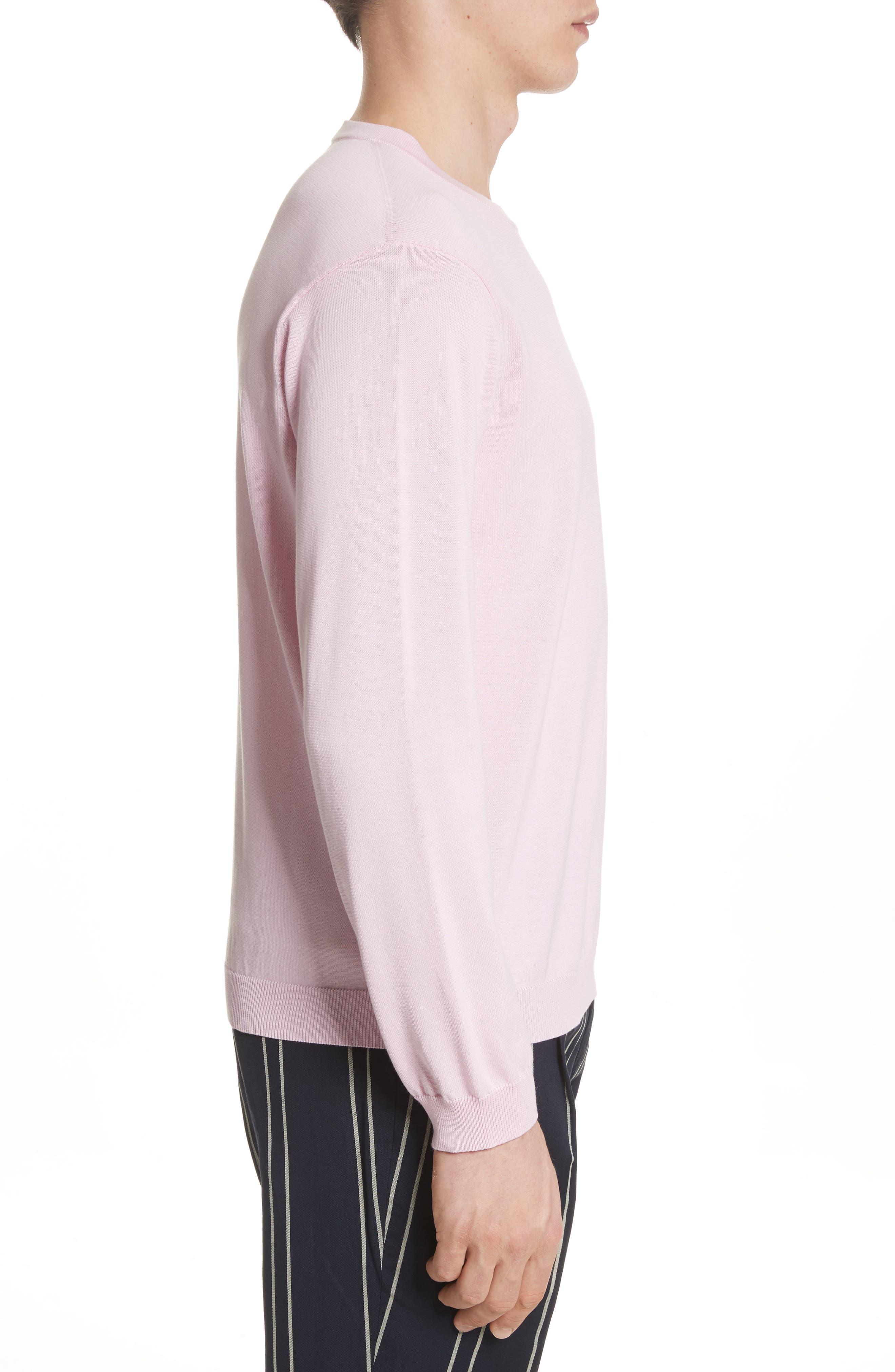 Crewneck Sweater,                             Alternate thumbnail 3, color,                             Pink
