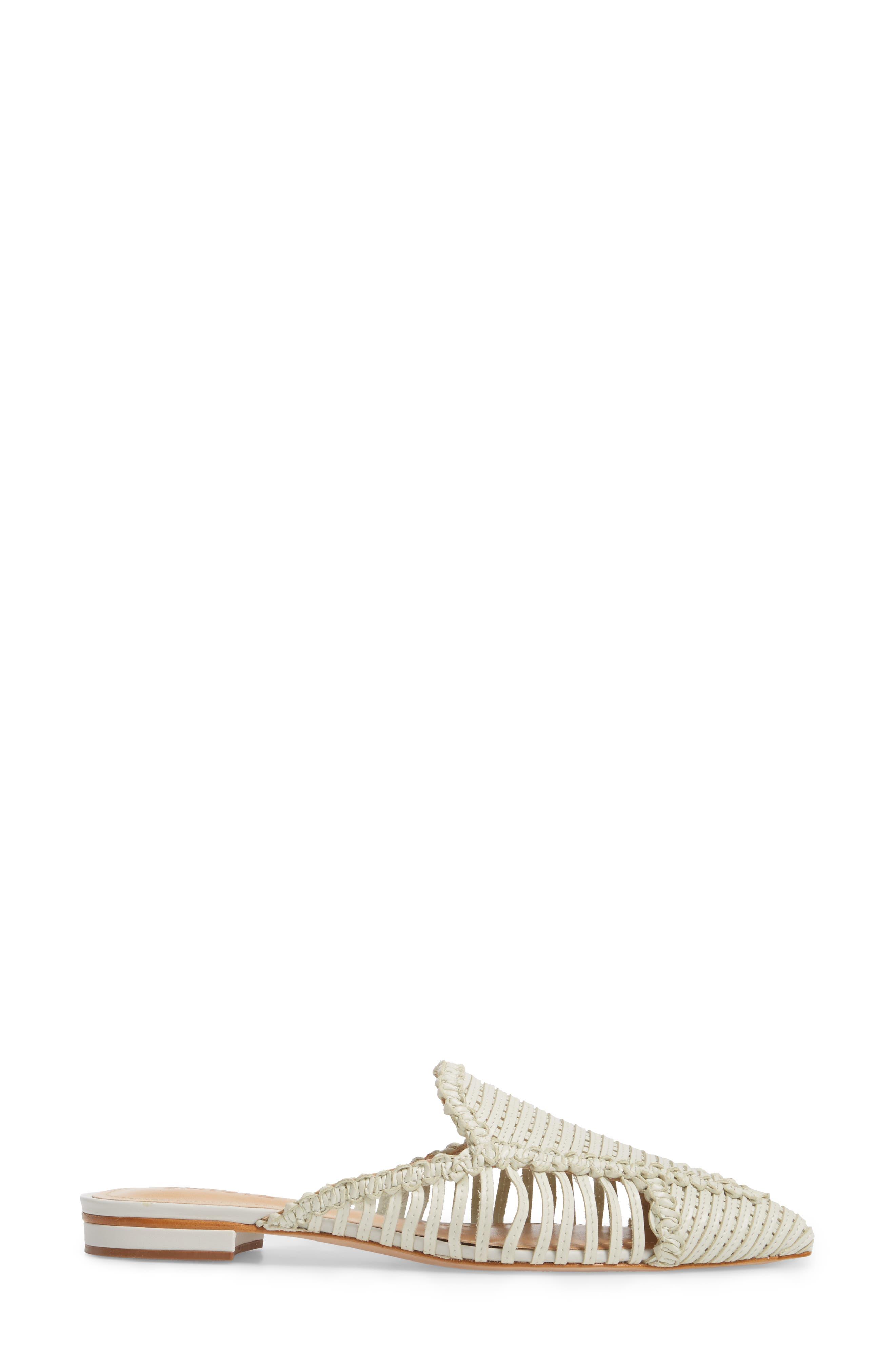 Marli Huarache Mule,                             Alternate thumbnail 3, color,                             Pearl