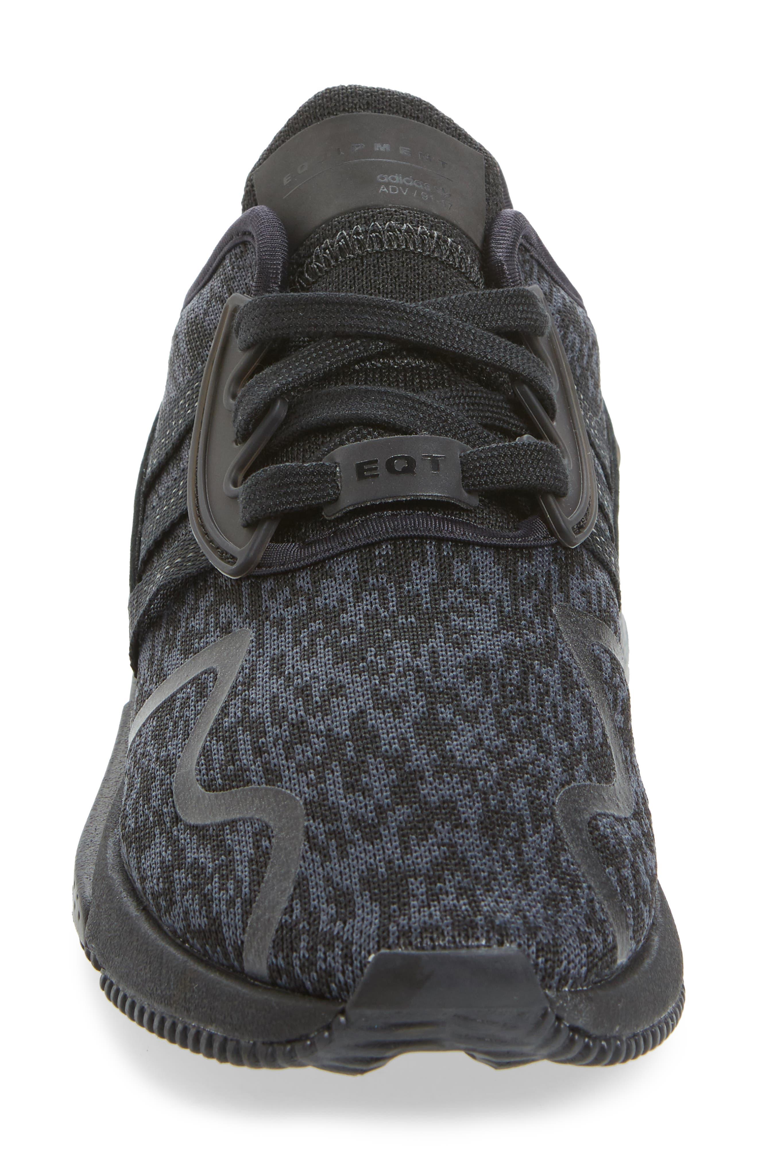 EQT Cushion ADV Sneaker,                             Alternate thumbnail 4, color,                             Core Black/ Core Black/ White