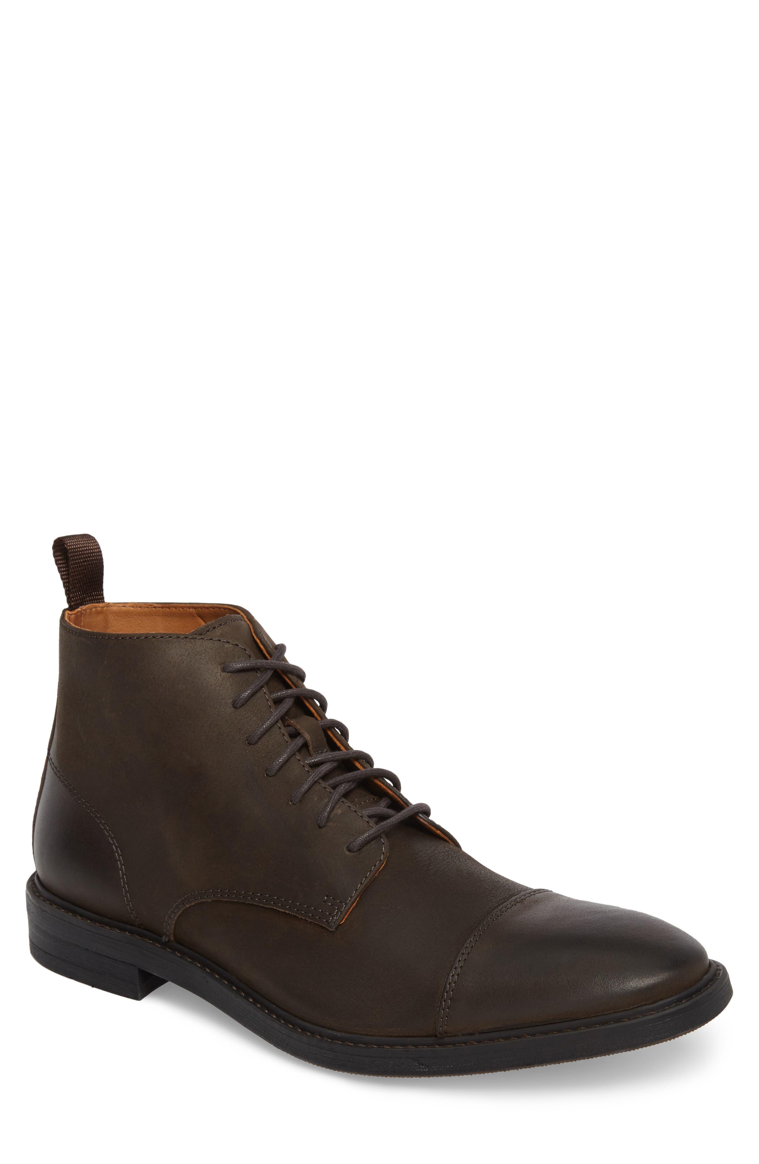 Pateros Cap Toe Boot,                         Main,                         color, Chocolate Leather