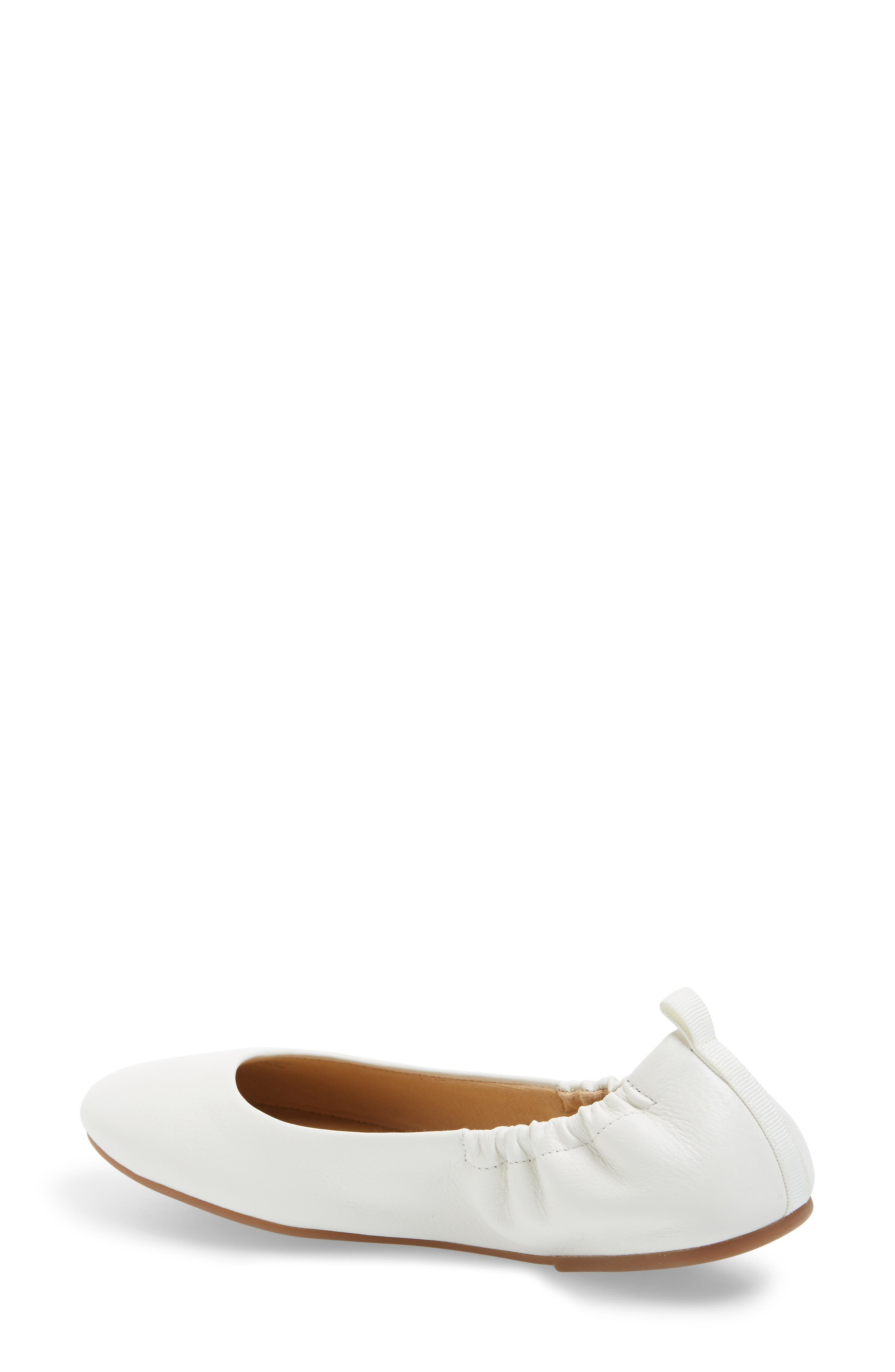 Bailee Skimmer Flat,                             Alternate thumbnail 2, color,                             Off White Leather