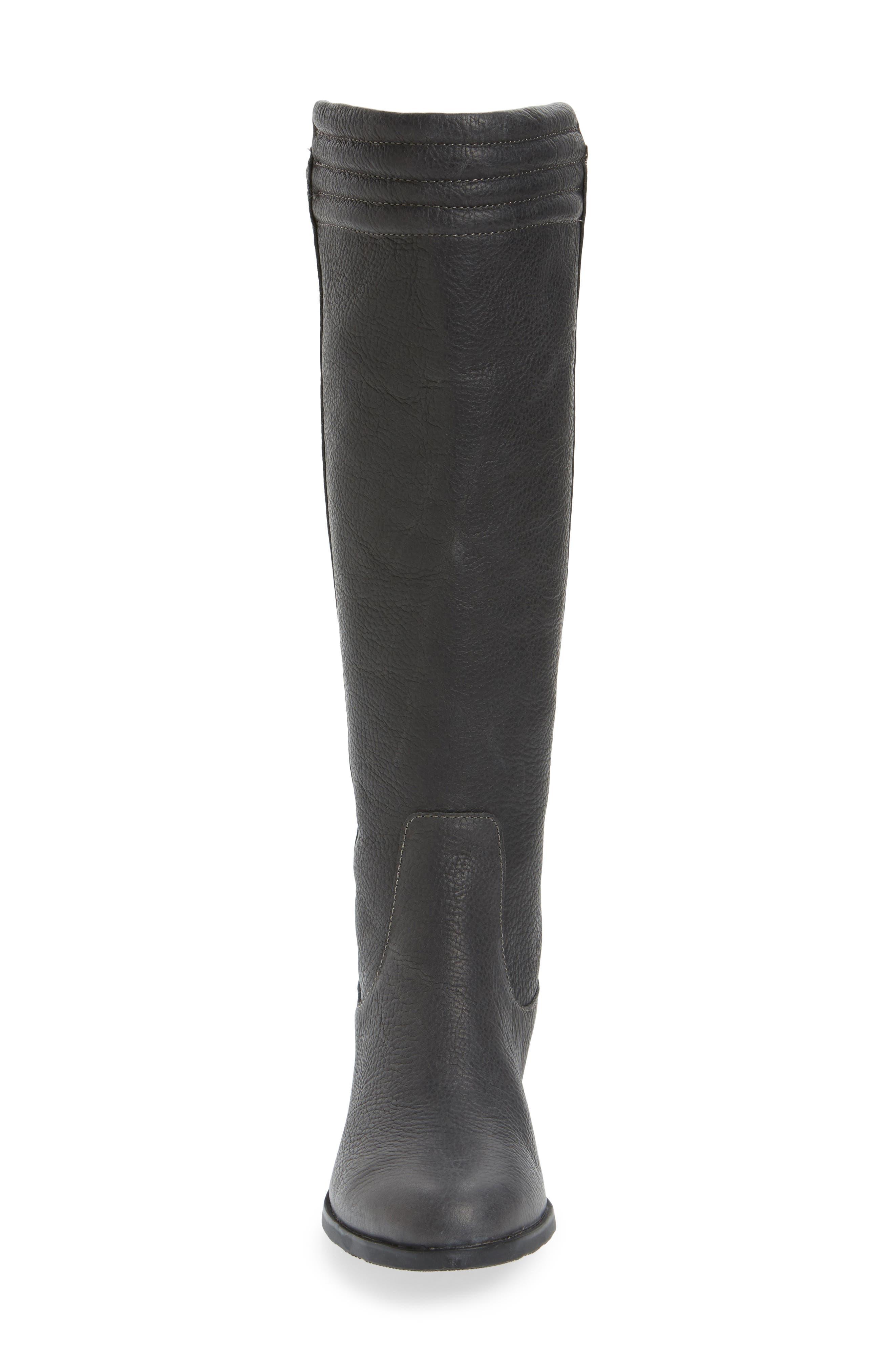 Danica Waterproof Knee High Boot,                             Alternate thumbnail 4, color,                             Quarry/ Black