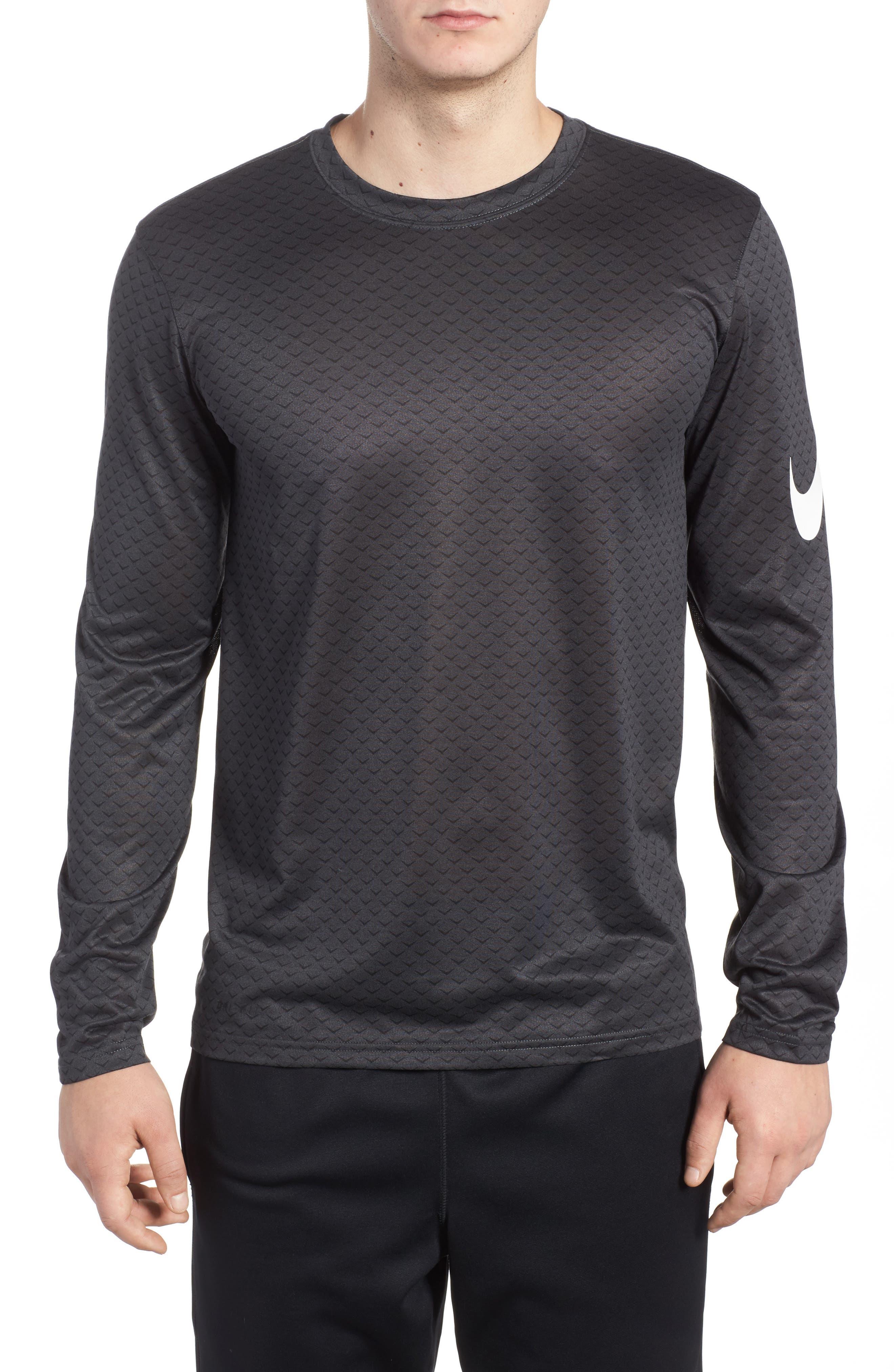 Dry Legend Training T-Shirt,                             Main thumbnail 1, color,                             Anthracite/ White