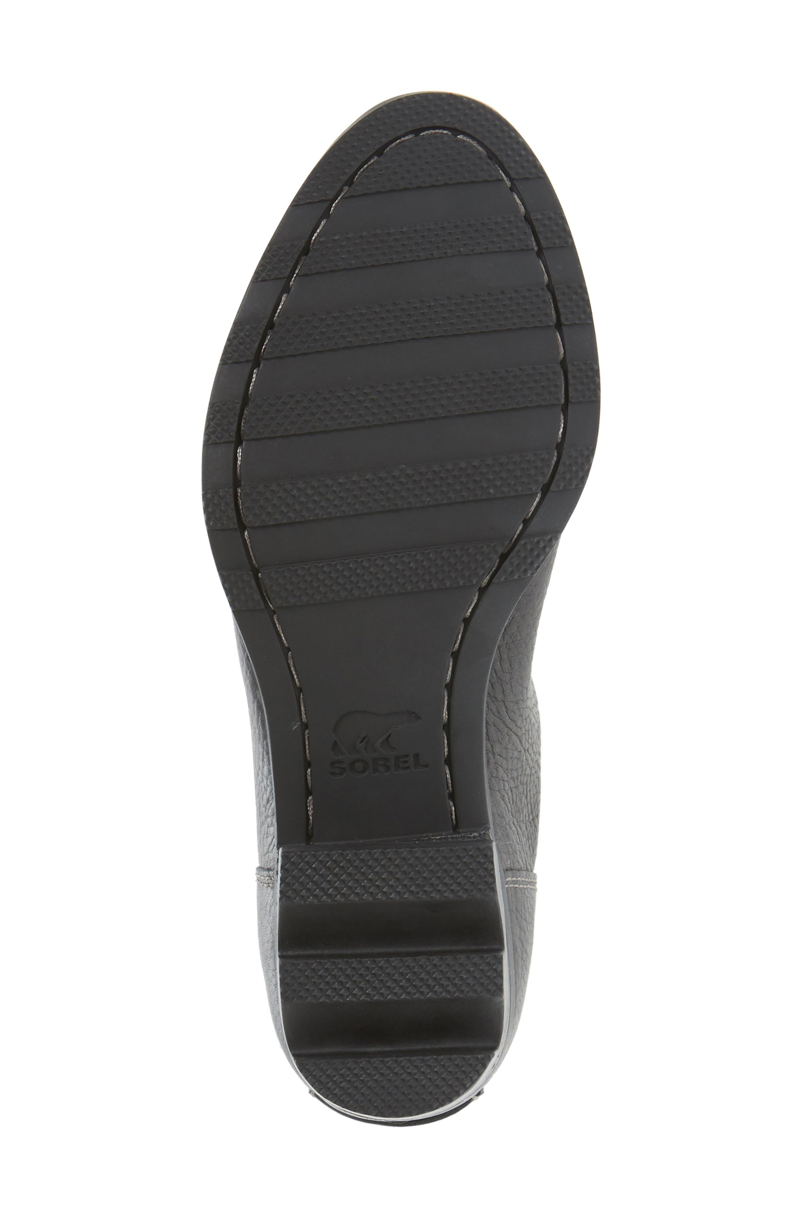 Danica Waterproof Knee High Boot,                             Alternate thumbnail 6, color,                             Quarry/ Black