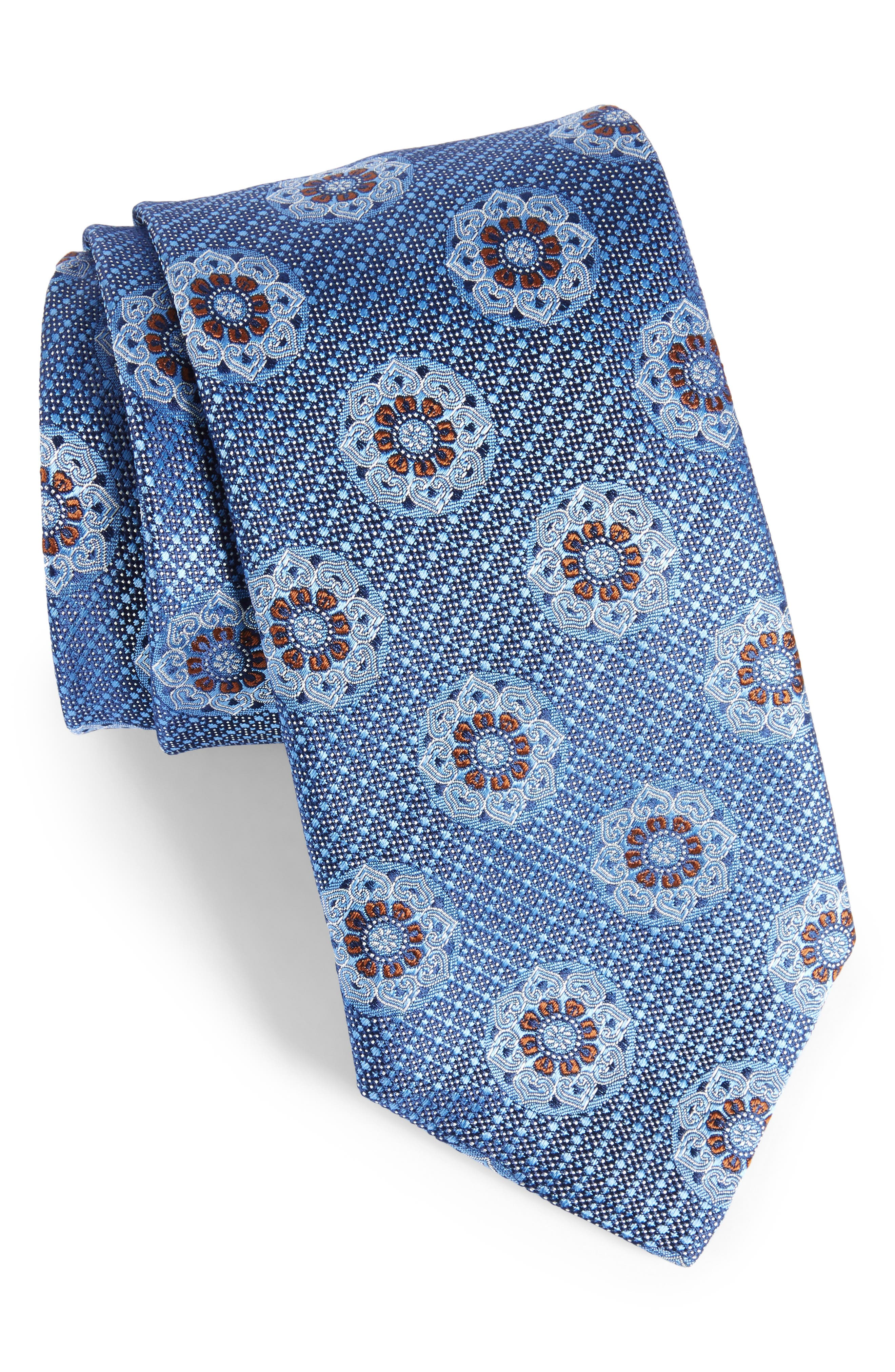 Main Image - Canali Medallion Silk Tie (X-Long)