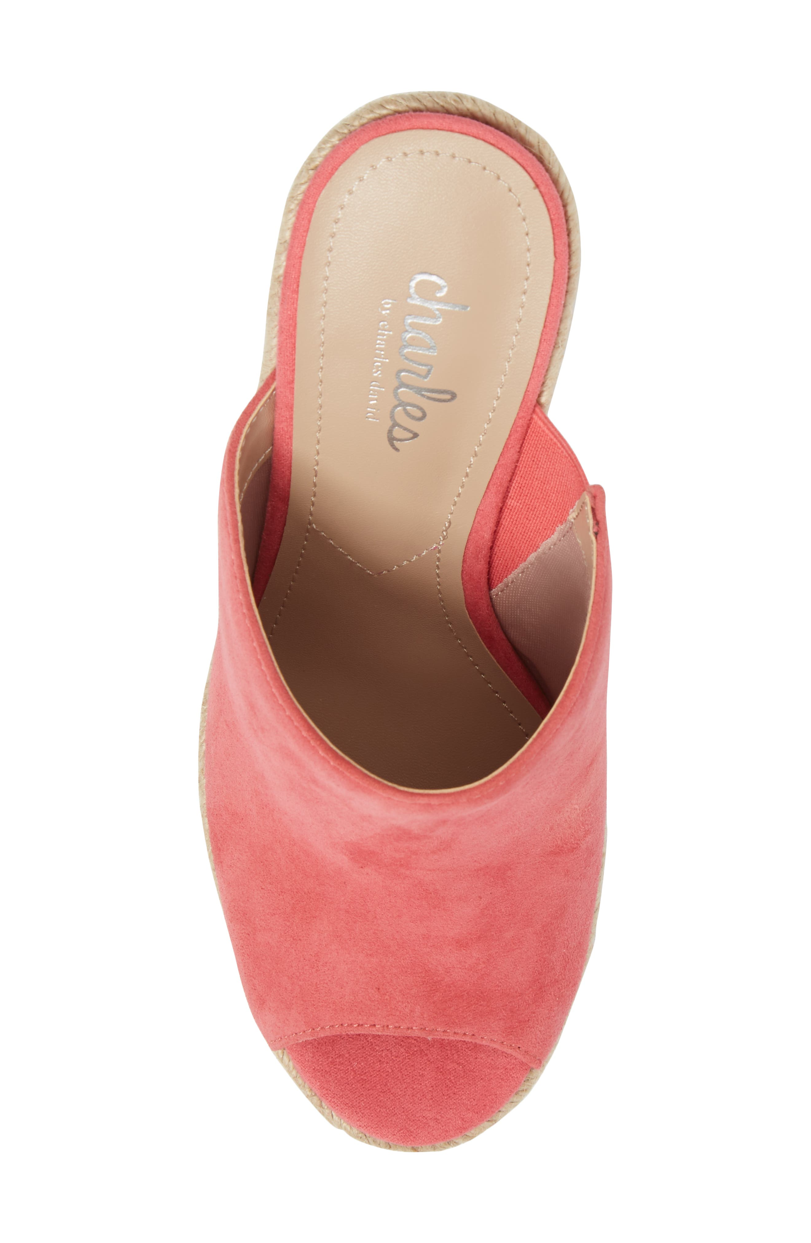 Balen Wedge,                             Alternate thumbnail 9, color,                             Coral Suede