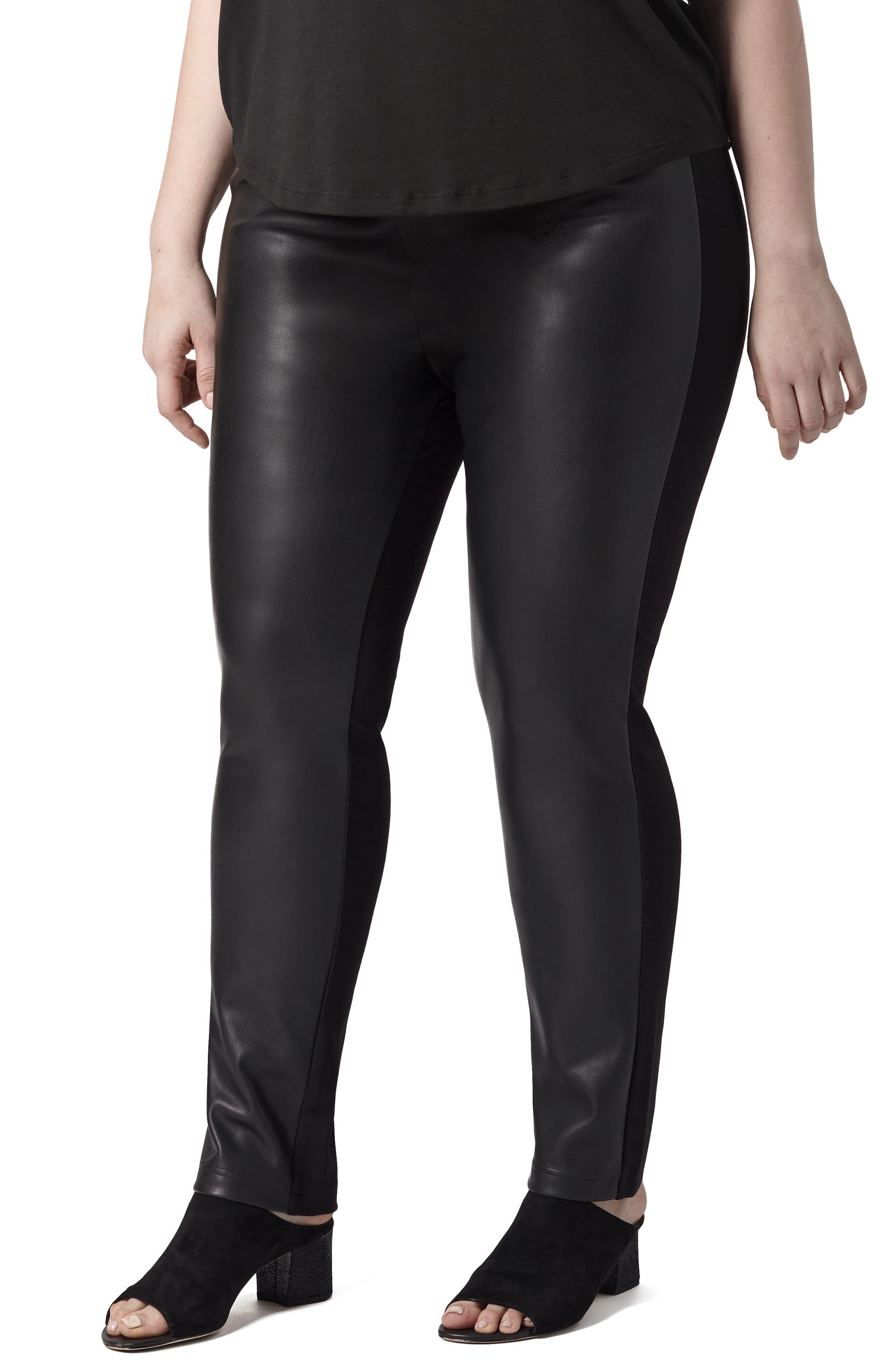 Potenza Faux Leather Pants,                         Main,                         color, Black