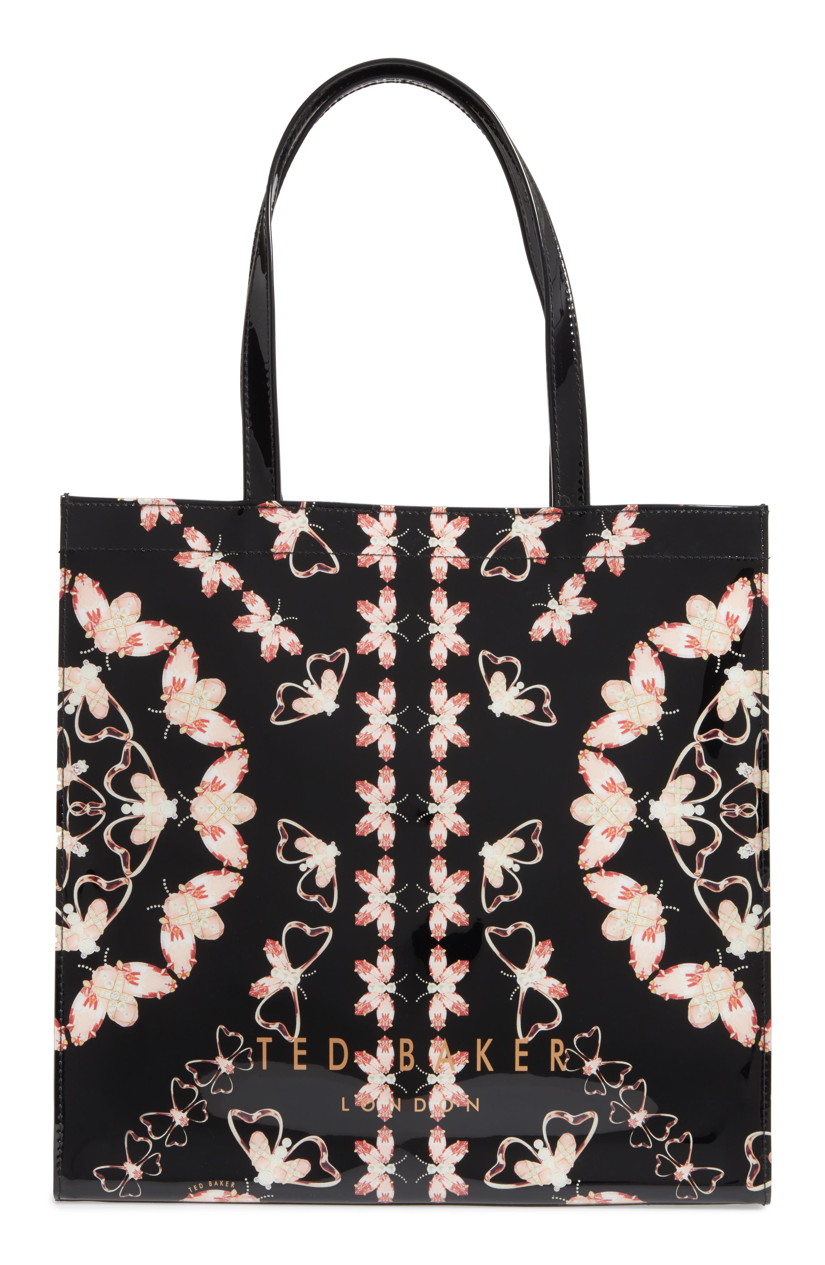 Large Icon Queen Bee Tote,                             Alternate thumbnail 3, color,                             Black