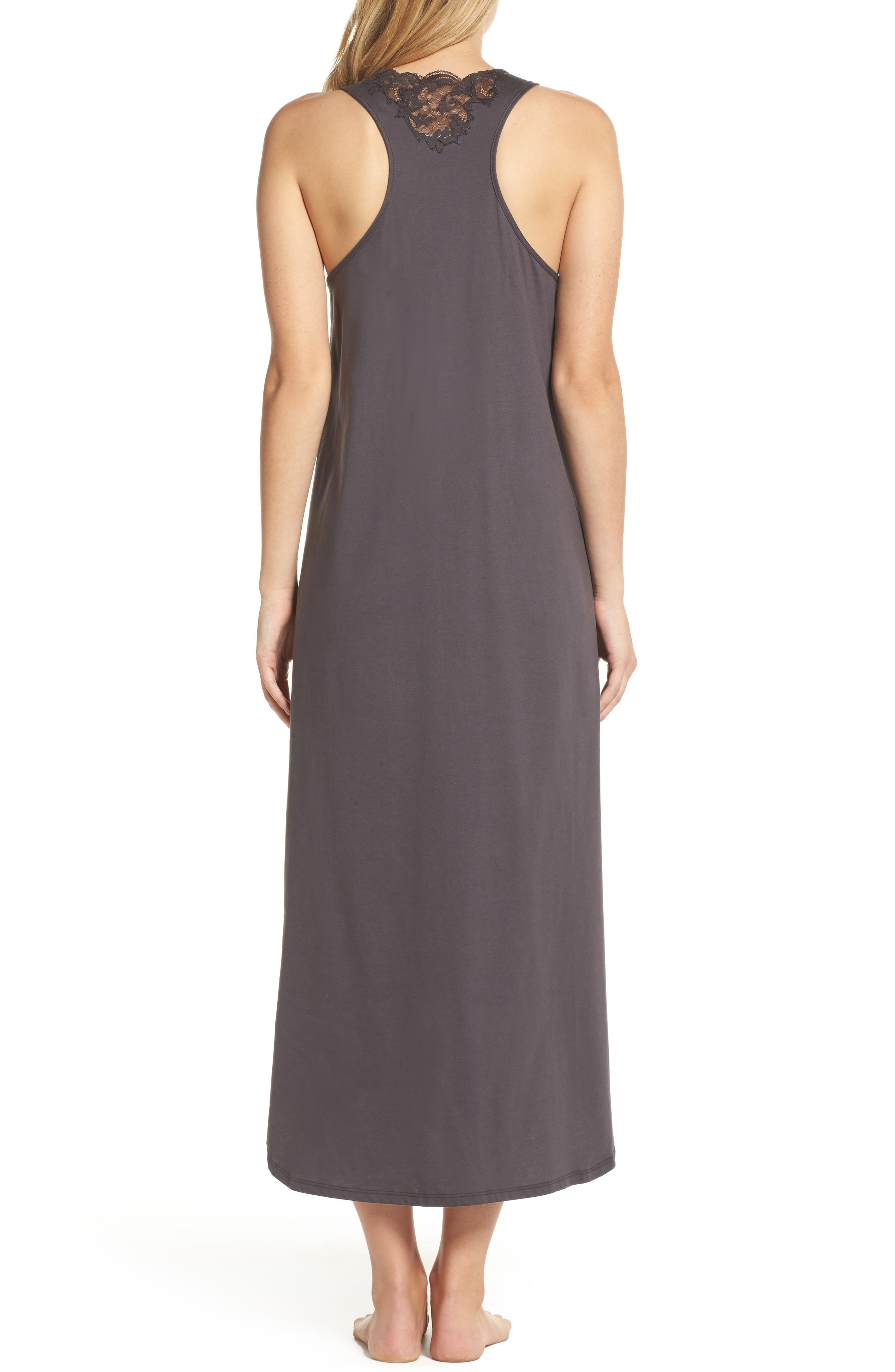 Bliss Supima<sup>®</sup> Cotton Nightgown,                             Alternate thumbnail 2, color,                             Graphite
