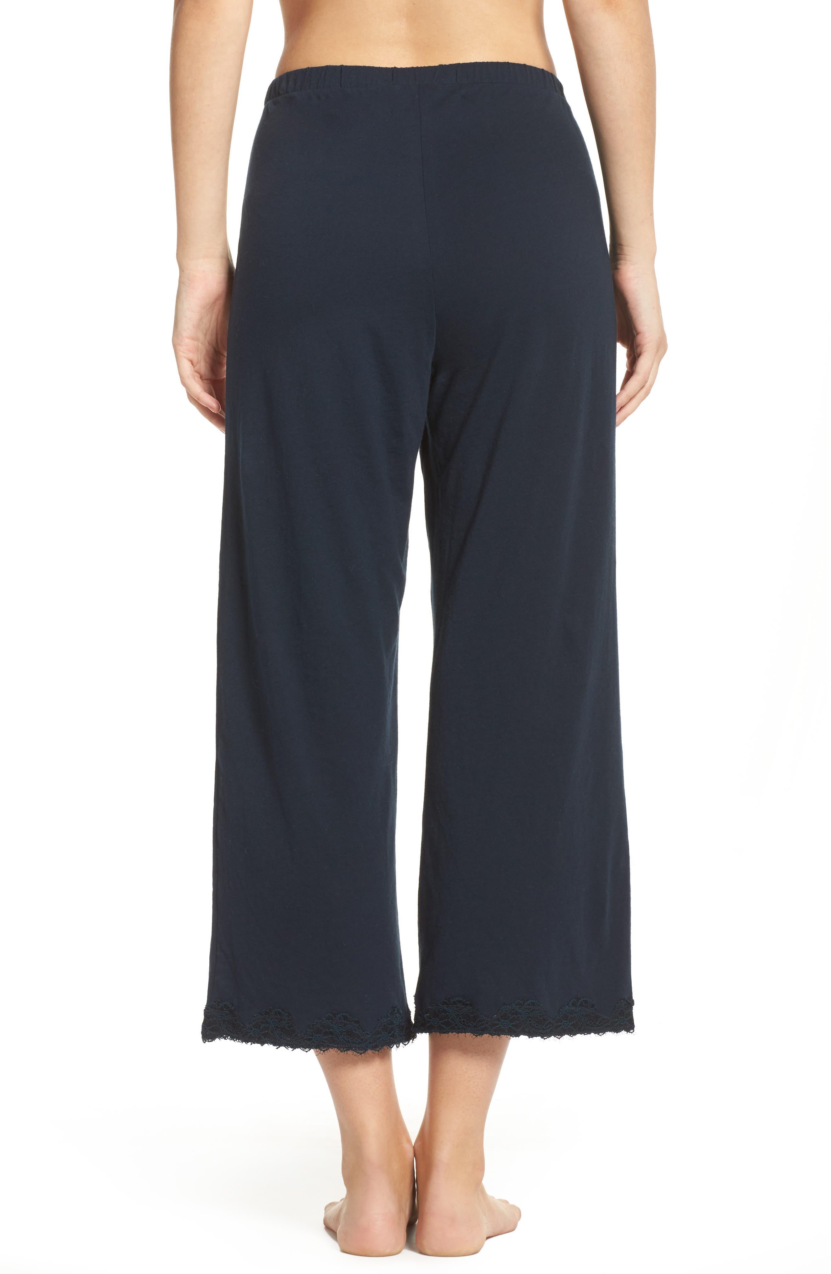 Alternate Image 2  - skin Que Crop Organic Cotton Lounge Pants