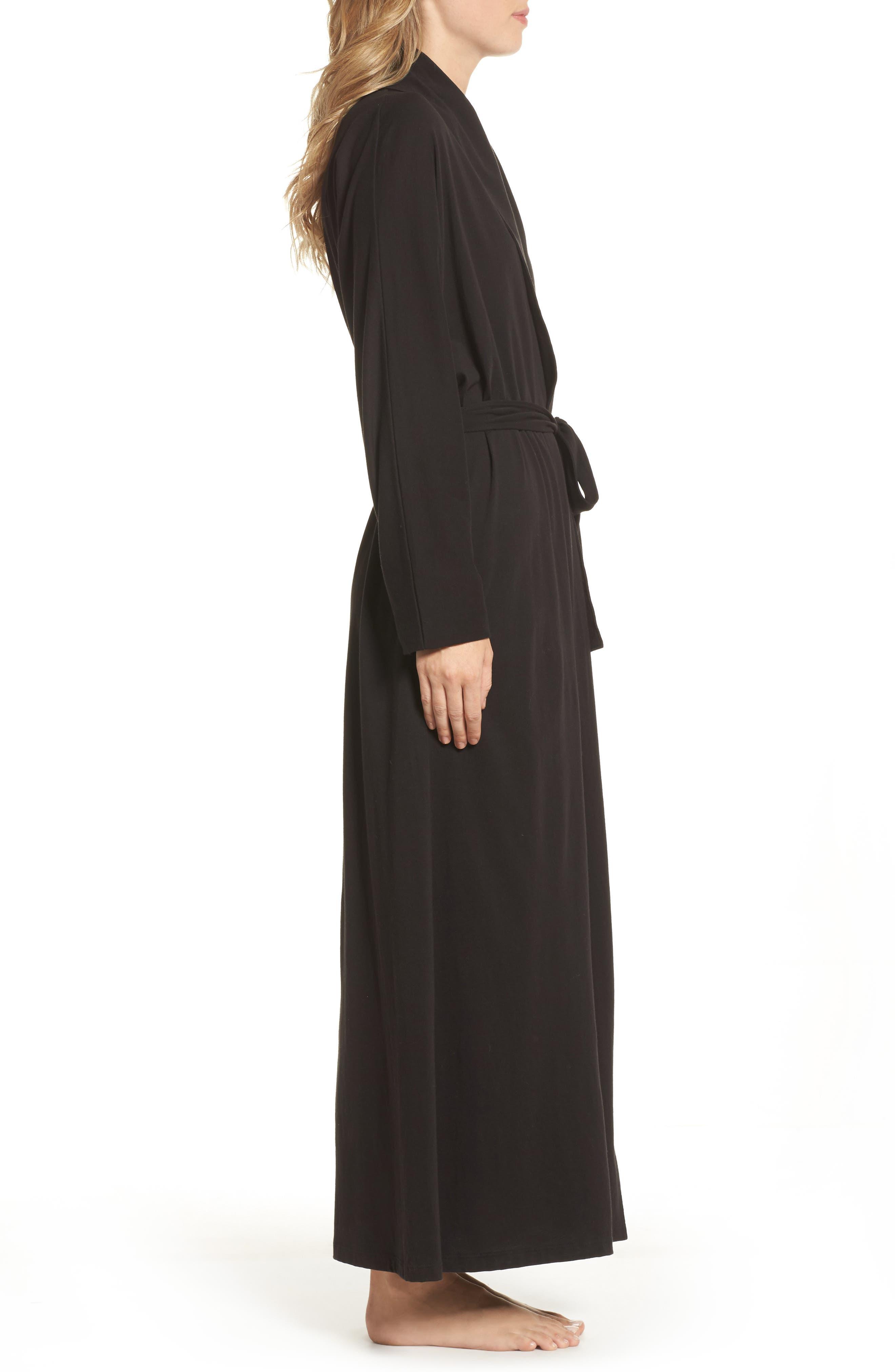Alternate Image 3  - skin Paola Pima Cotton Robe