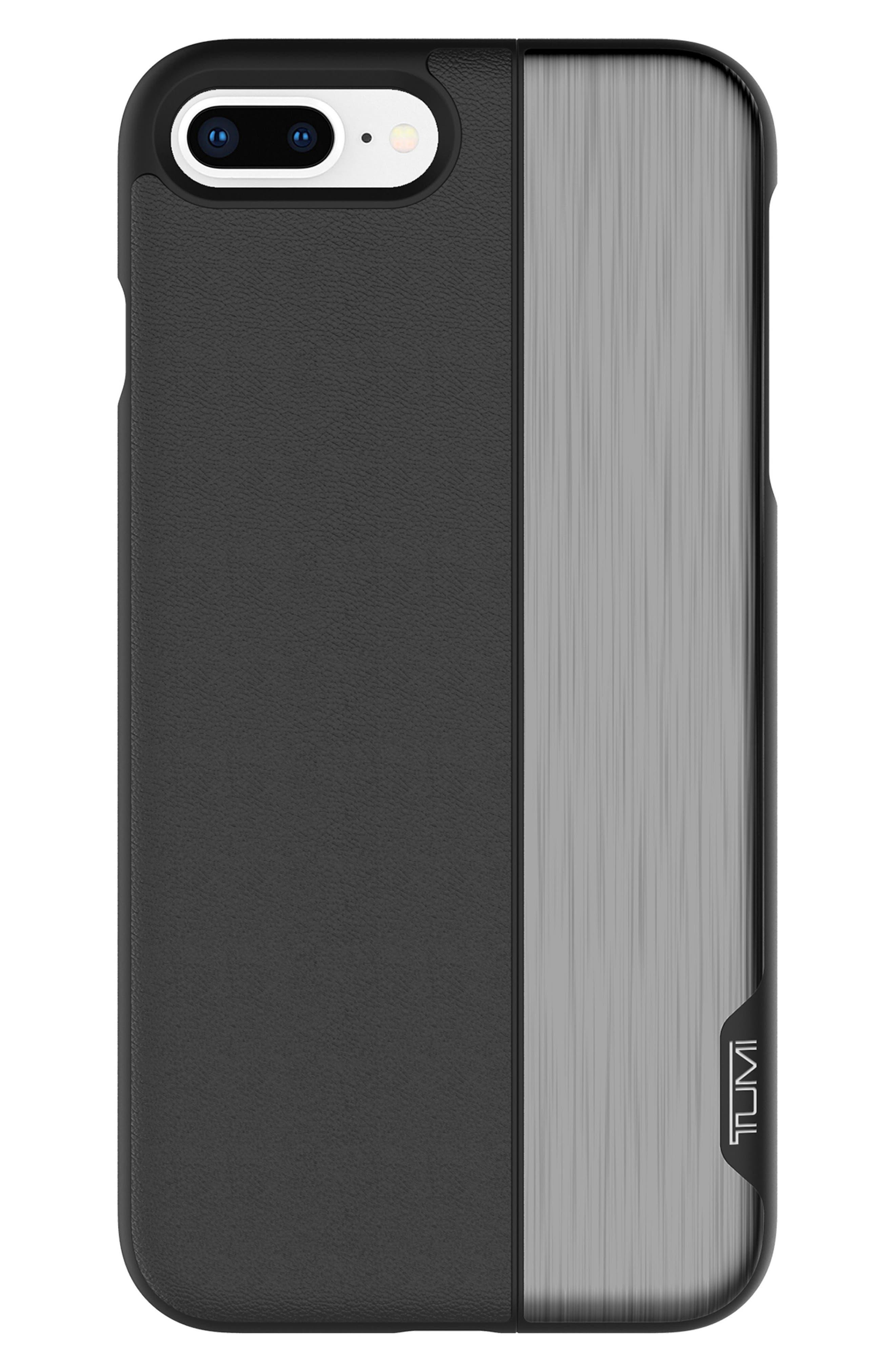 Slider iPhone 8 Plus Case,                             Main thumbnail 1, color,                             Black Gunmetal