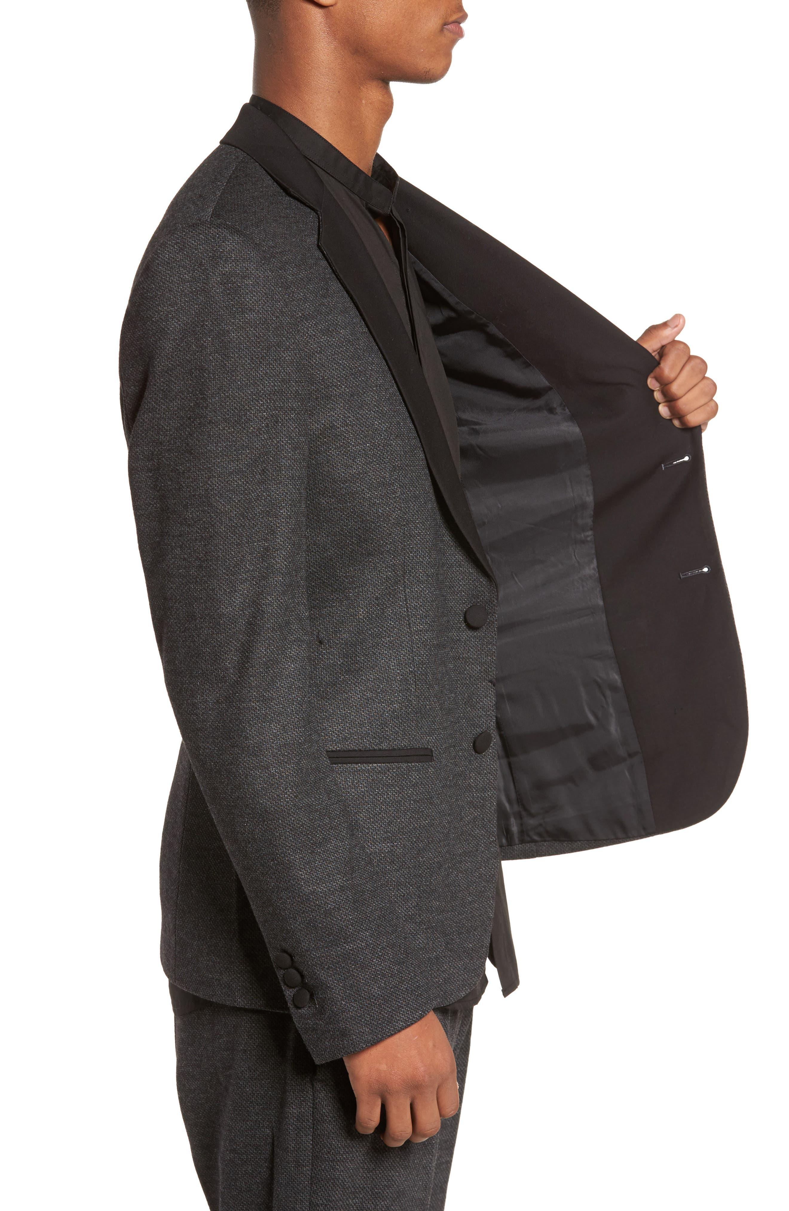 Tuxedo Blazer,                             Alternate thumbnail 4, color,                             Dark Melange