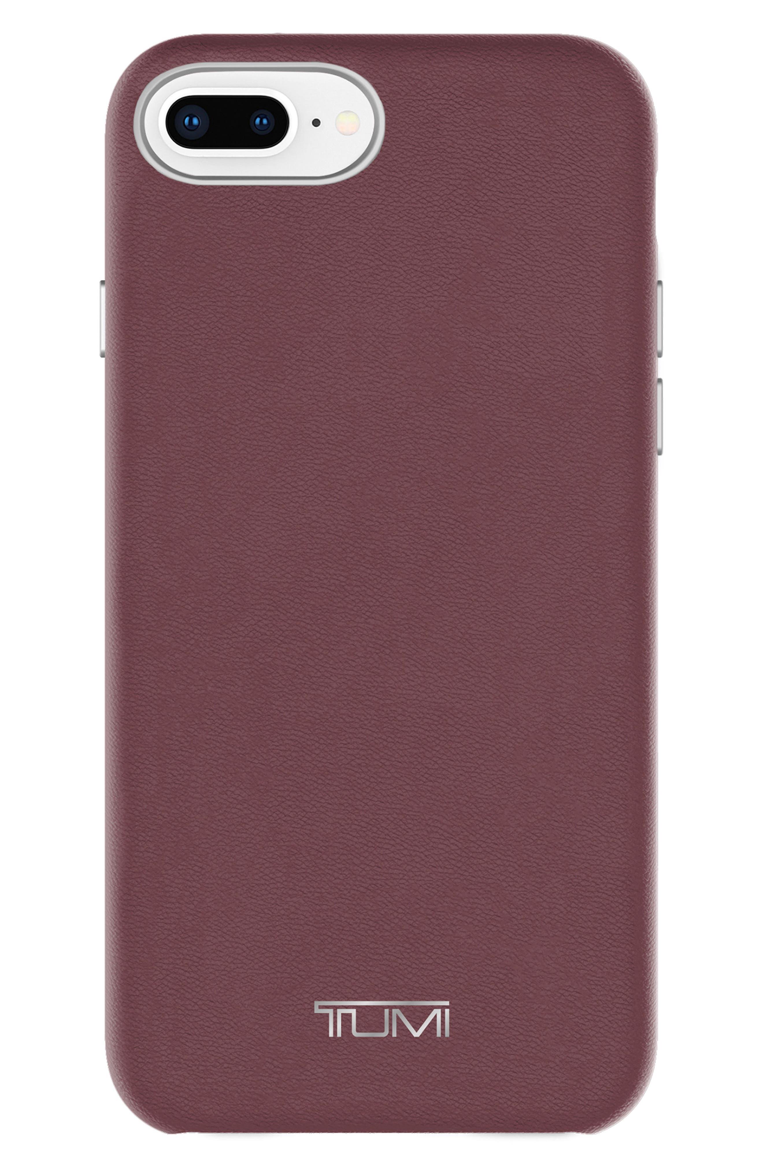 Tumi Leather Wrap iPhone 8 Plus Case