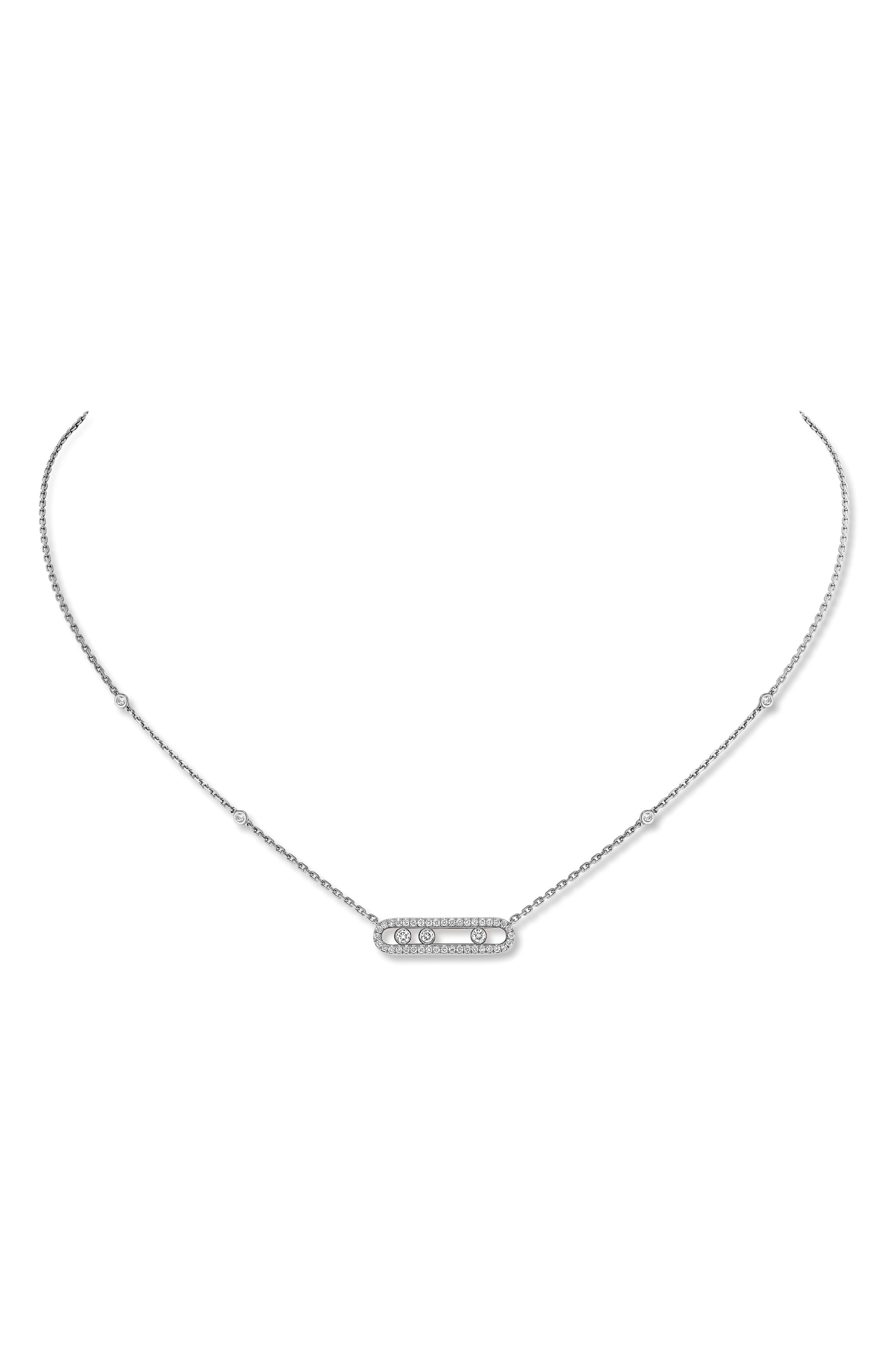 Alternate Image 1 Selected - Messika Baby Pavé Move Pendant Necklace