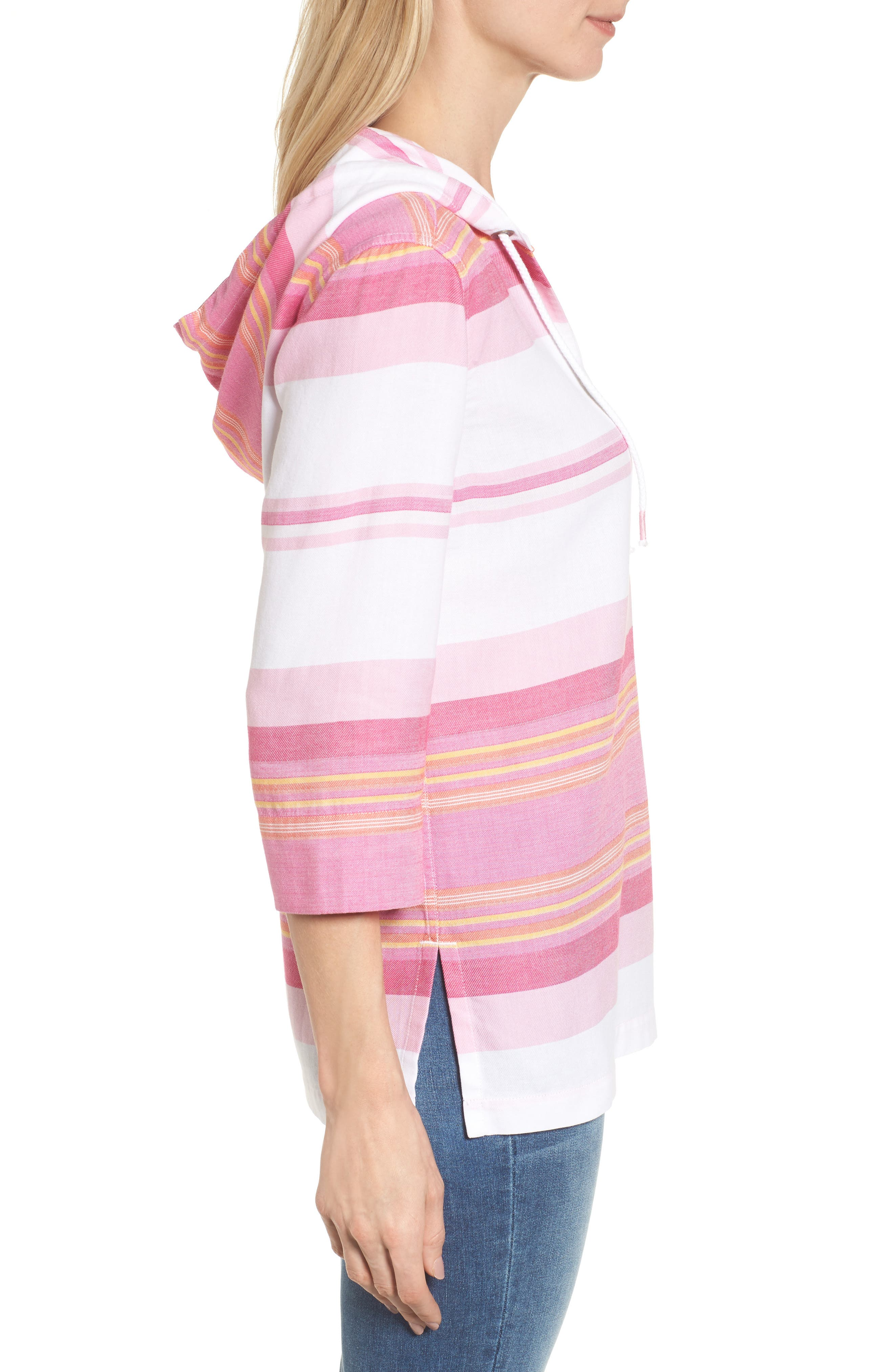Alternate Image 3  - Tommy Bahama Sunset Stripe Hoodie