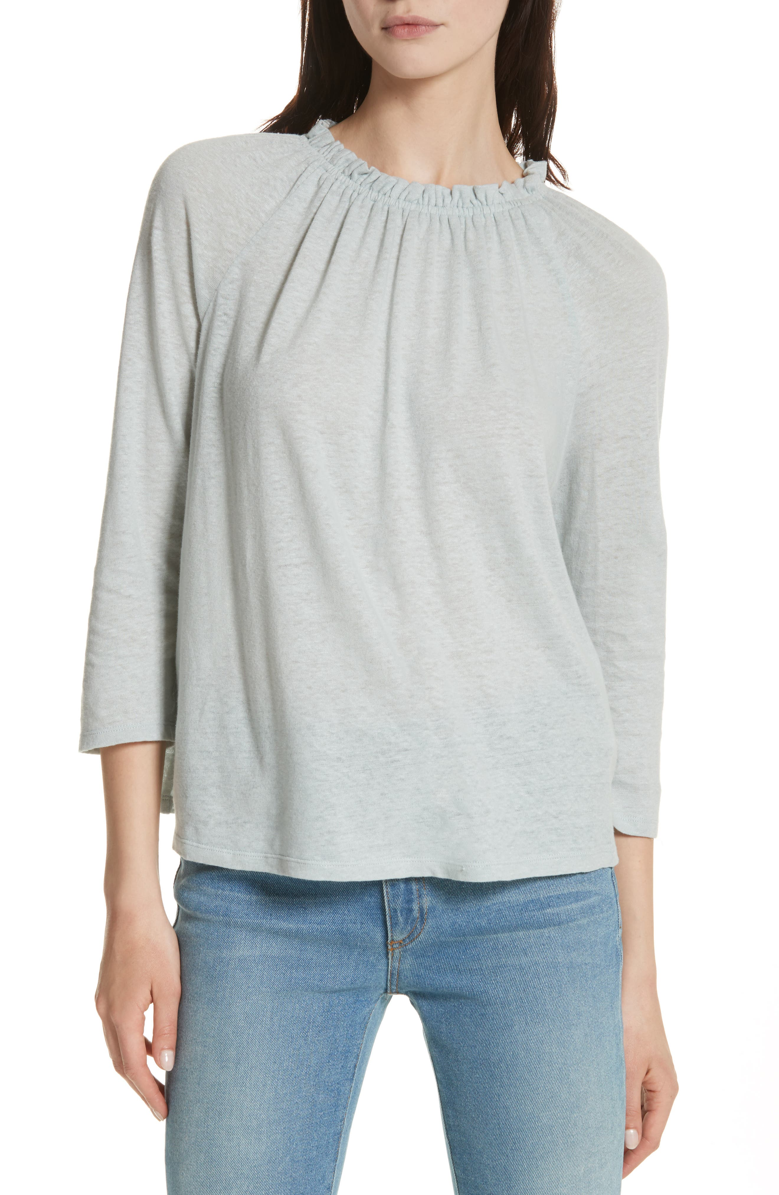 Texture Jersey Off the Shoulder Top,                         Main,                         color, Glace
