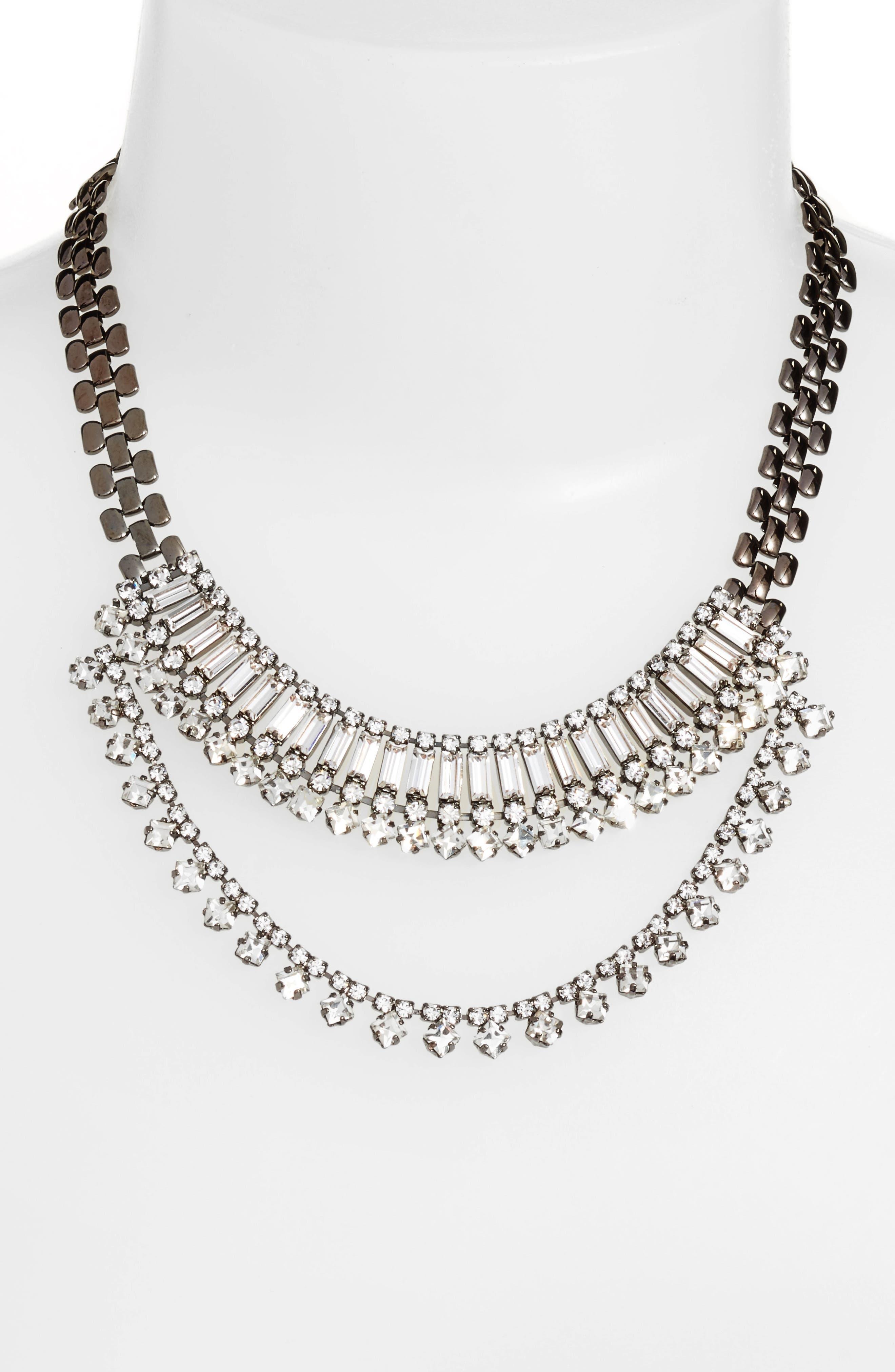 Alternate Image 2  - CRISTABELLE Multistone Frontal Necklace