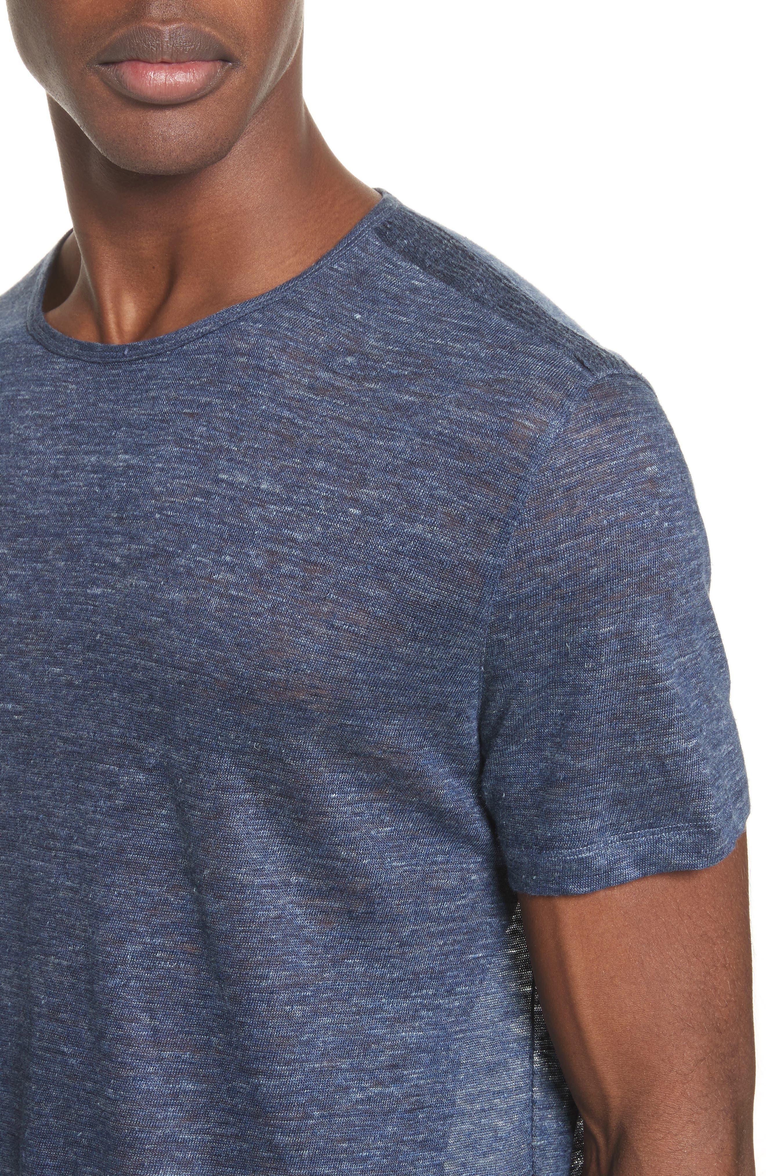 Alternate Image 4  - John Varvatos Collection Linen T-Shirt