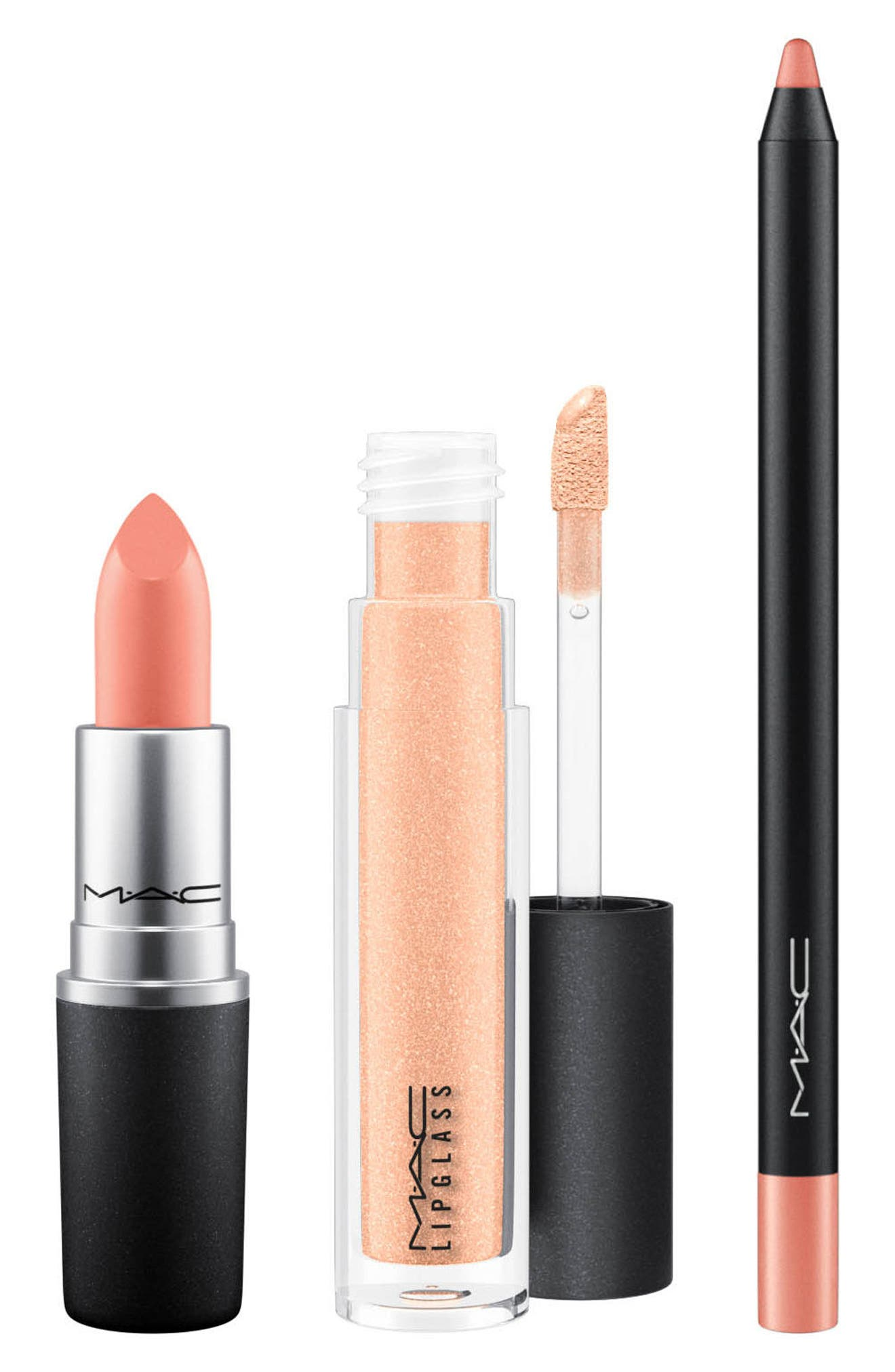 Alternate Image 3  - MAC Snow Ball Nude Lip Bag ($65.50 Value)
