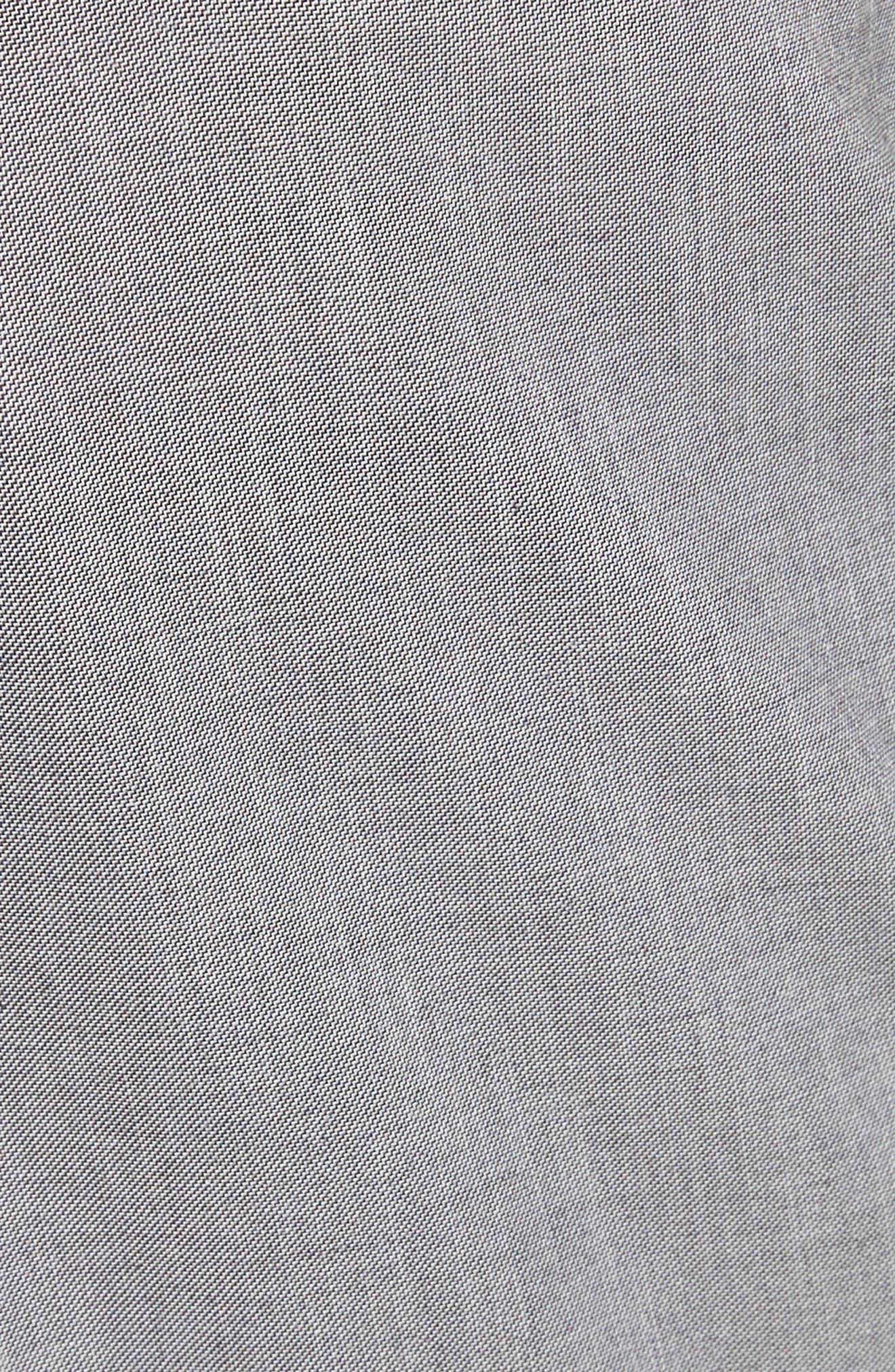 French Pocket Stretch Straight Leg Pants,                             Alternate thumbnail 5, color,                             Grey