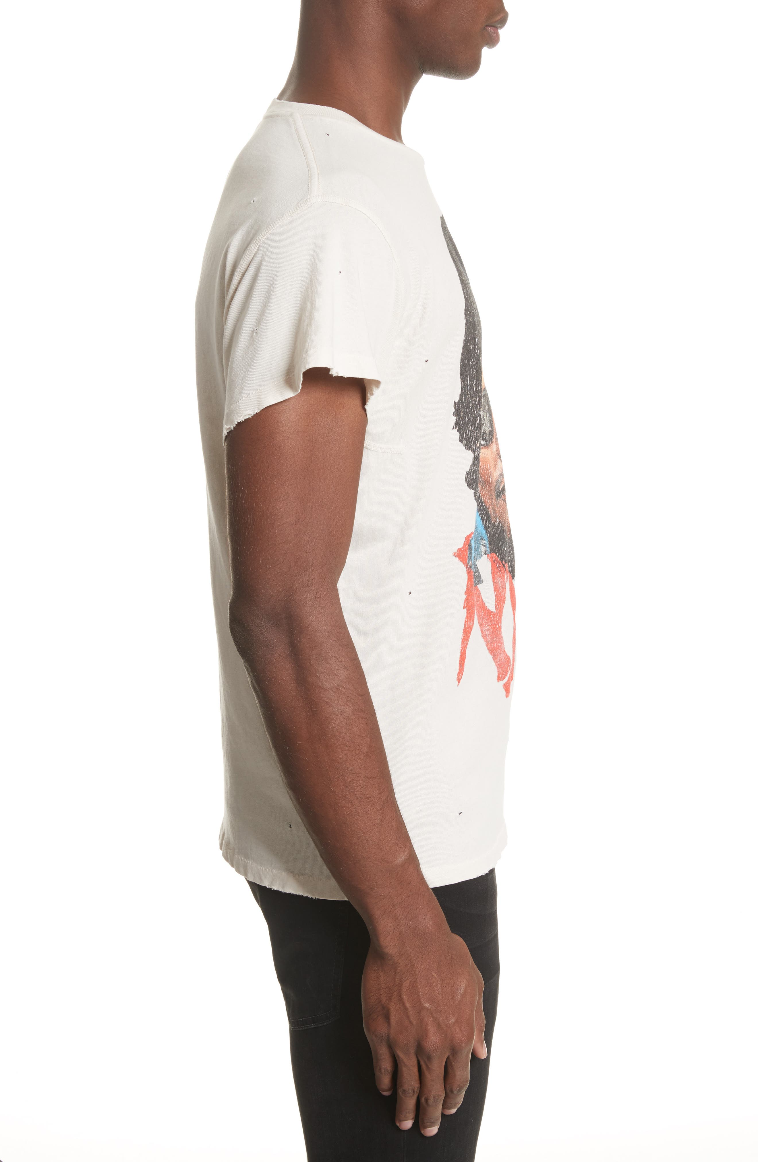 Easy E Graphic T-Shirt,                             Alternate thumbnail 3, color,                             Off White