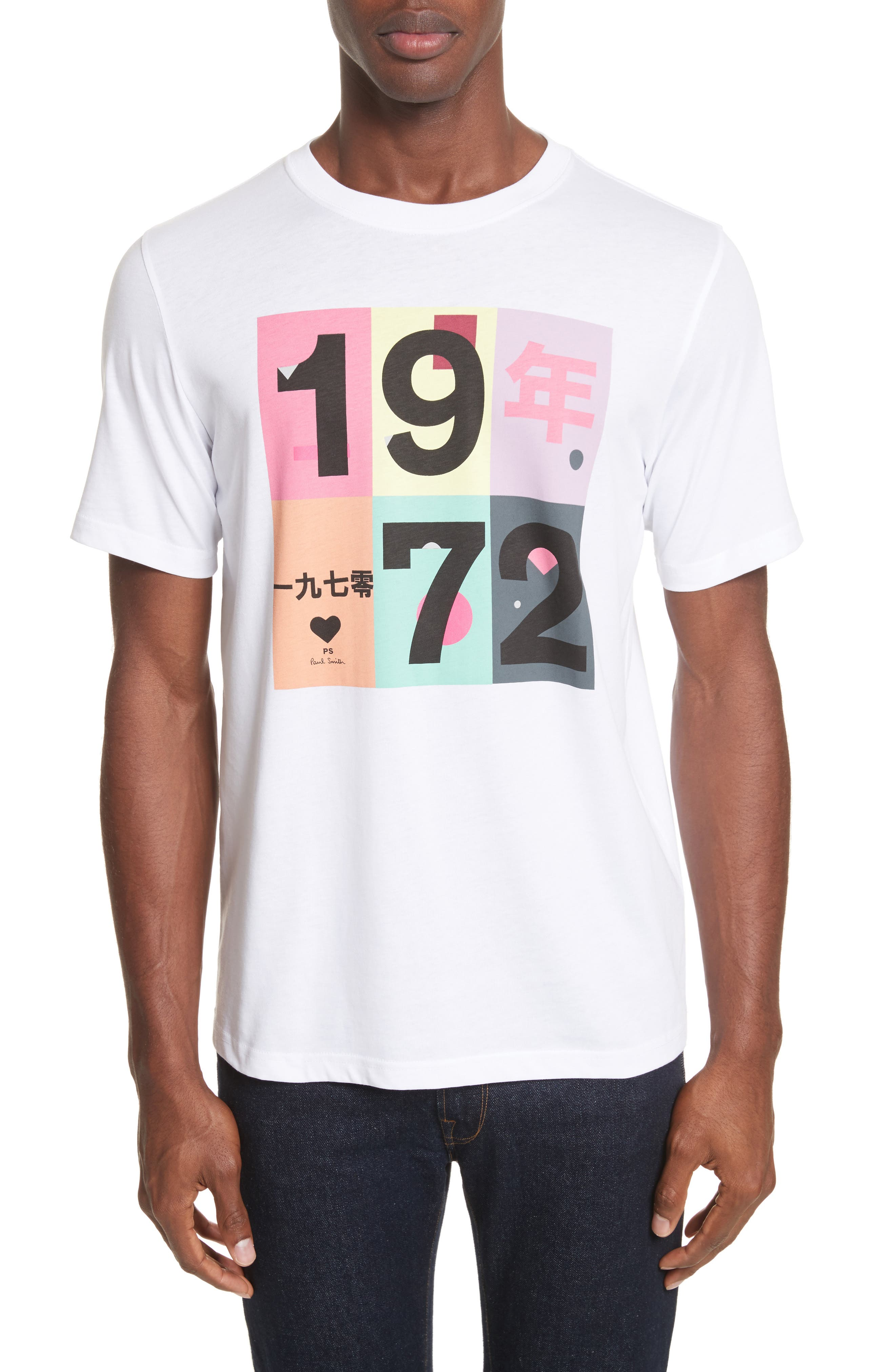 1972 Graphic T-Shirt,                         Main,                         color, White