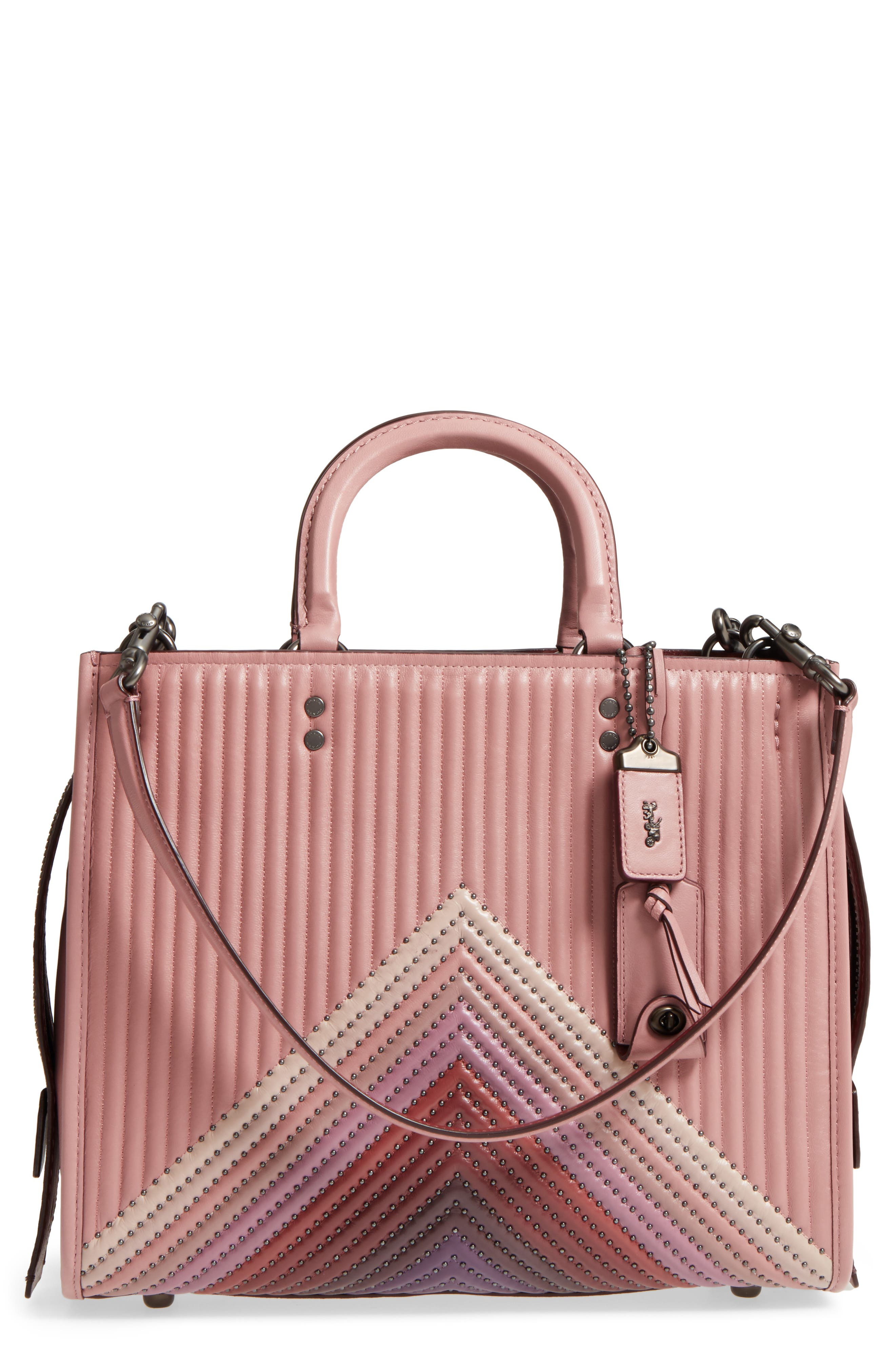 c2e014be0c COACH 1941 Rogue Rivets Quilted Leather Satchel on sale at Nordstrom for  $666.65 was $995, 33% off