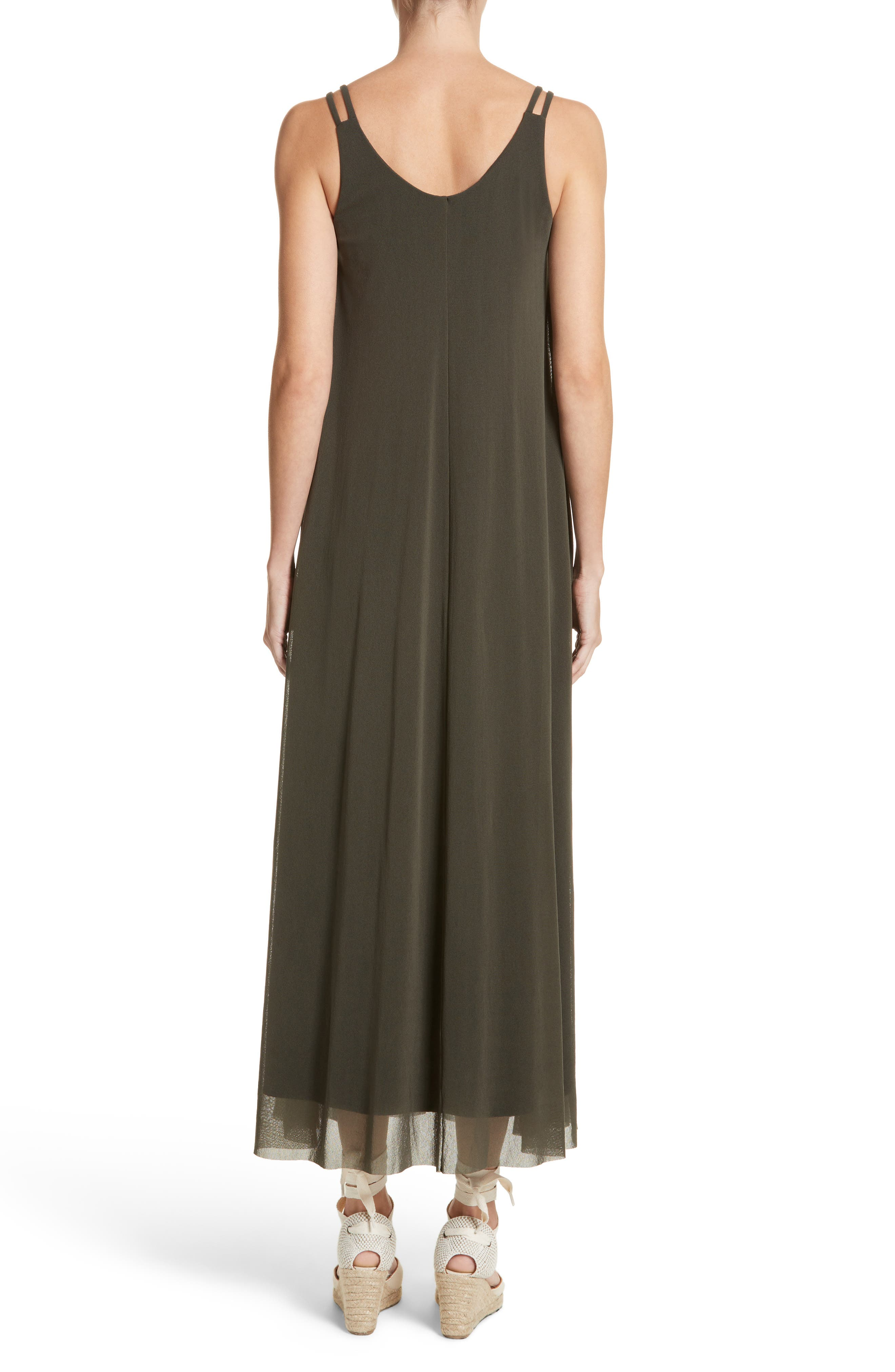 Tulle Strappy Maxi Dress,                             Alternate thumbnail 2, color,                             Dandy