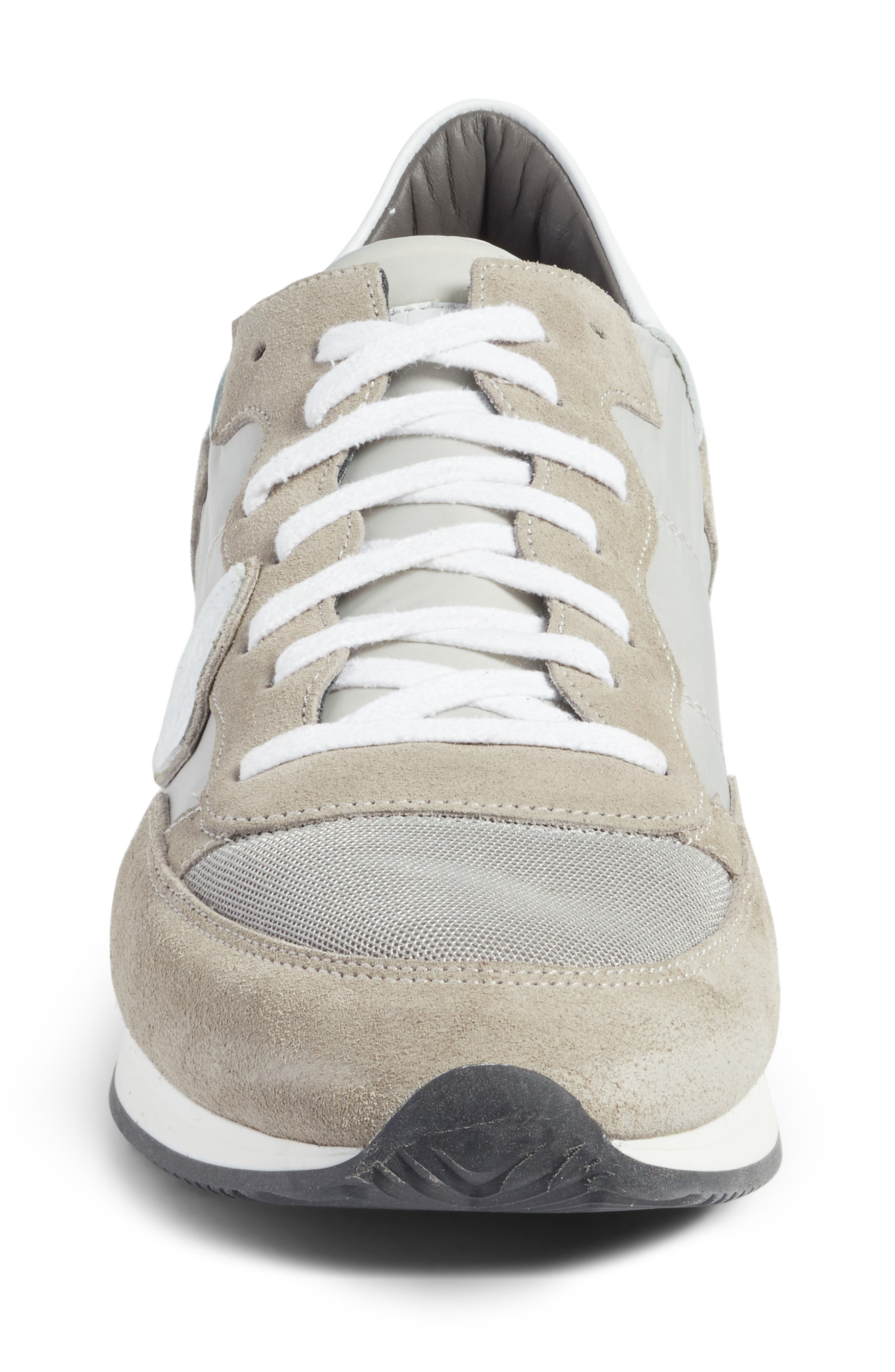 Tropez Low Top Sneaker,                             Alternate thumbnail 4, color,                             Grey/ White