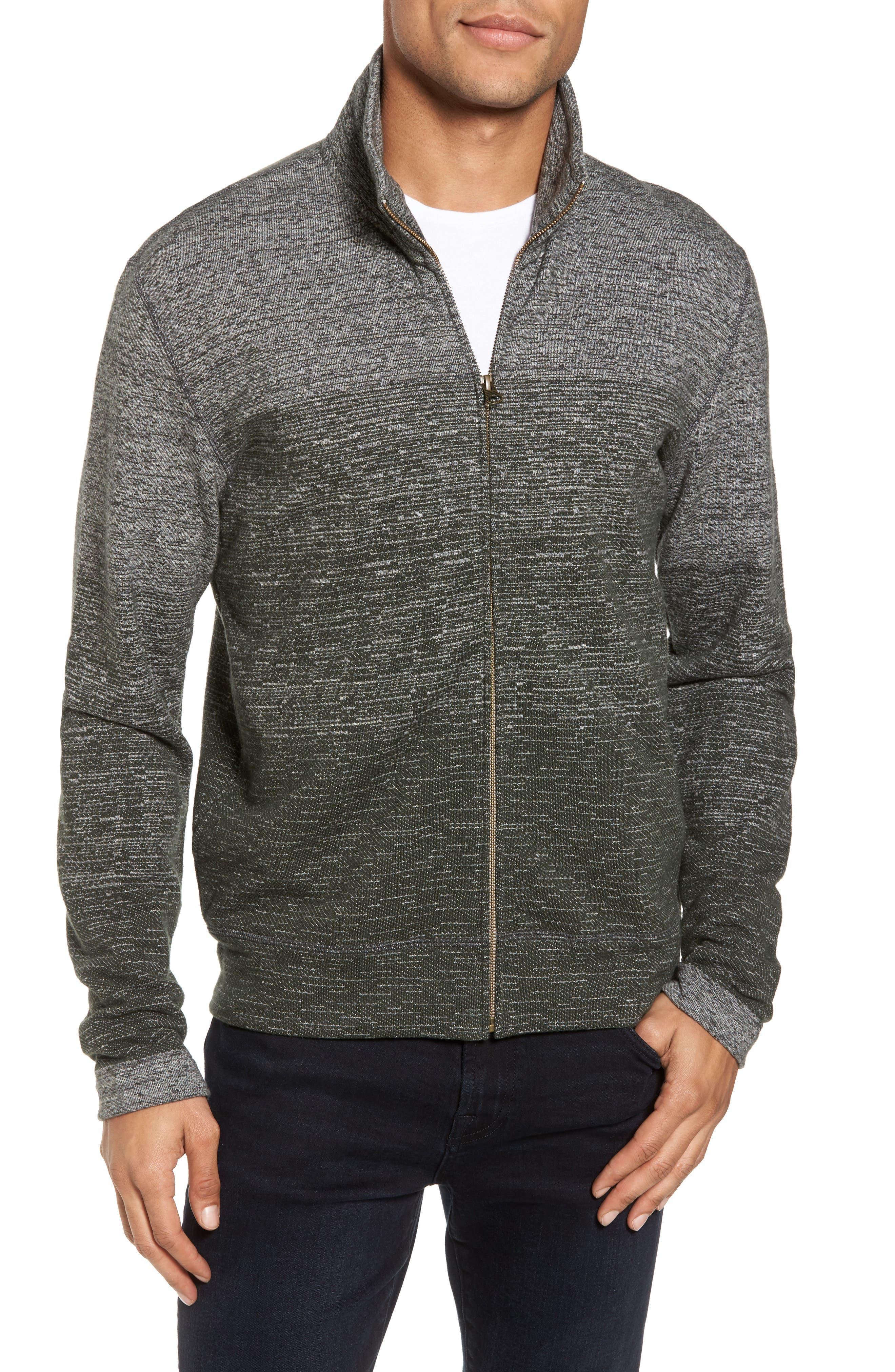 Gradient Track Jacket,                             Main thumbnail 1, color,                             Charcoal/ Pine