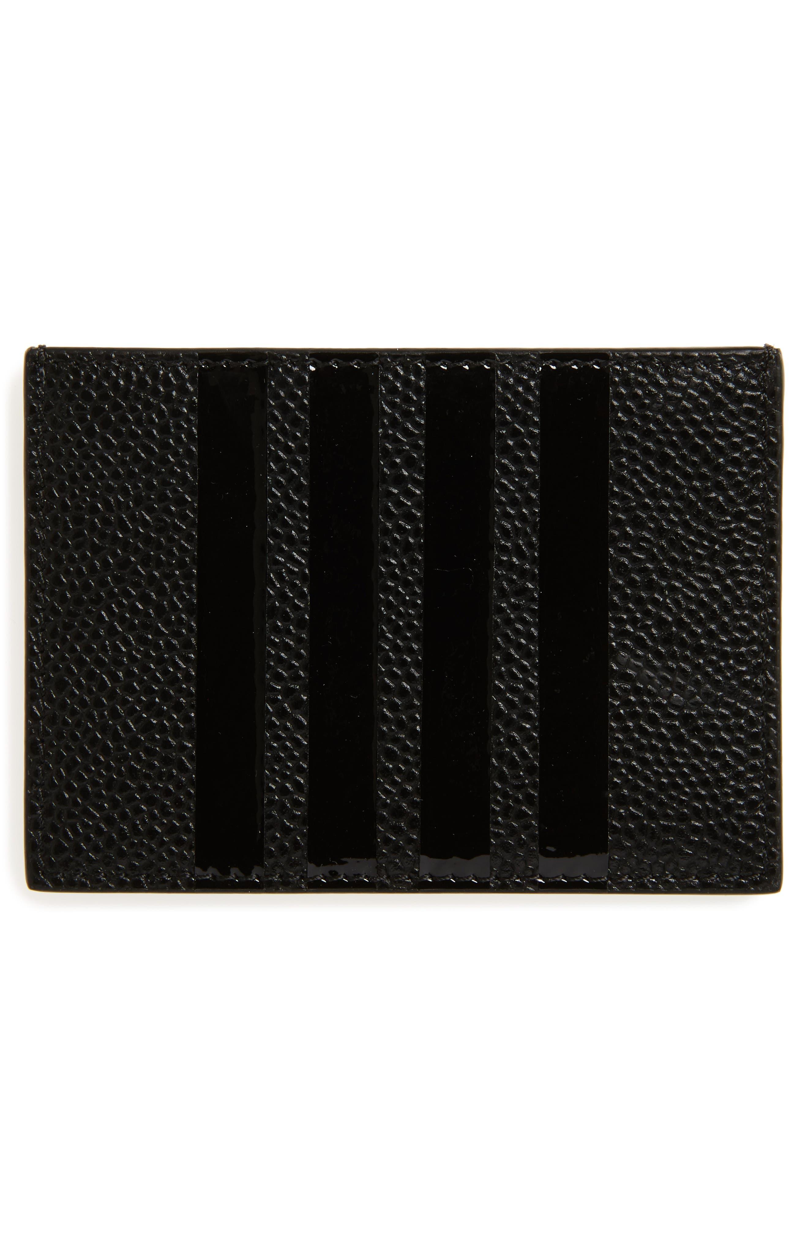 Patent Leather Card Case,                             Alternate thumbnail 2, color,                             Black