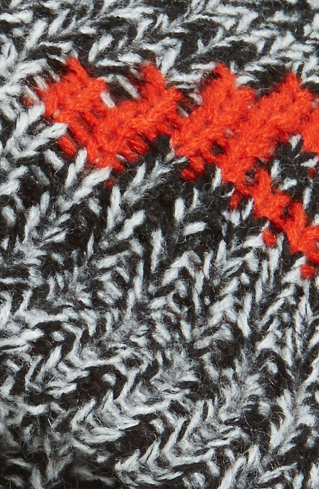 Happy Knit Beret,                             Alternate thumbnail 2, color,                             Black- White Happy