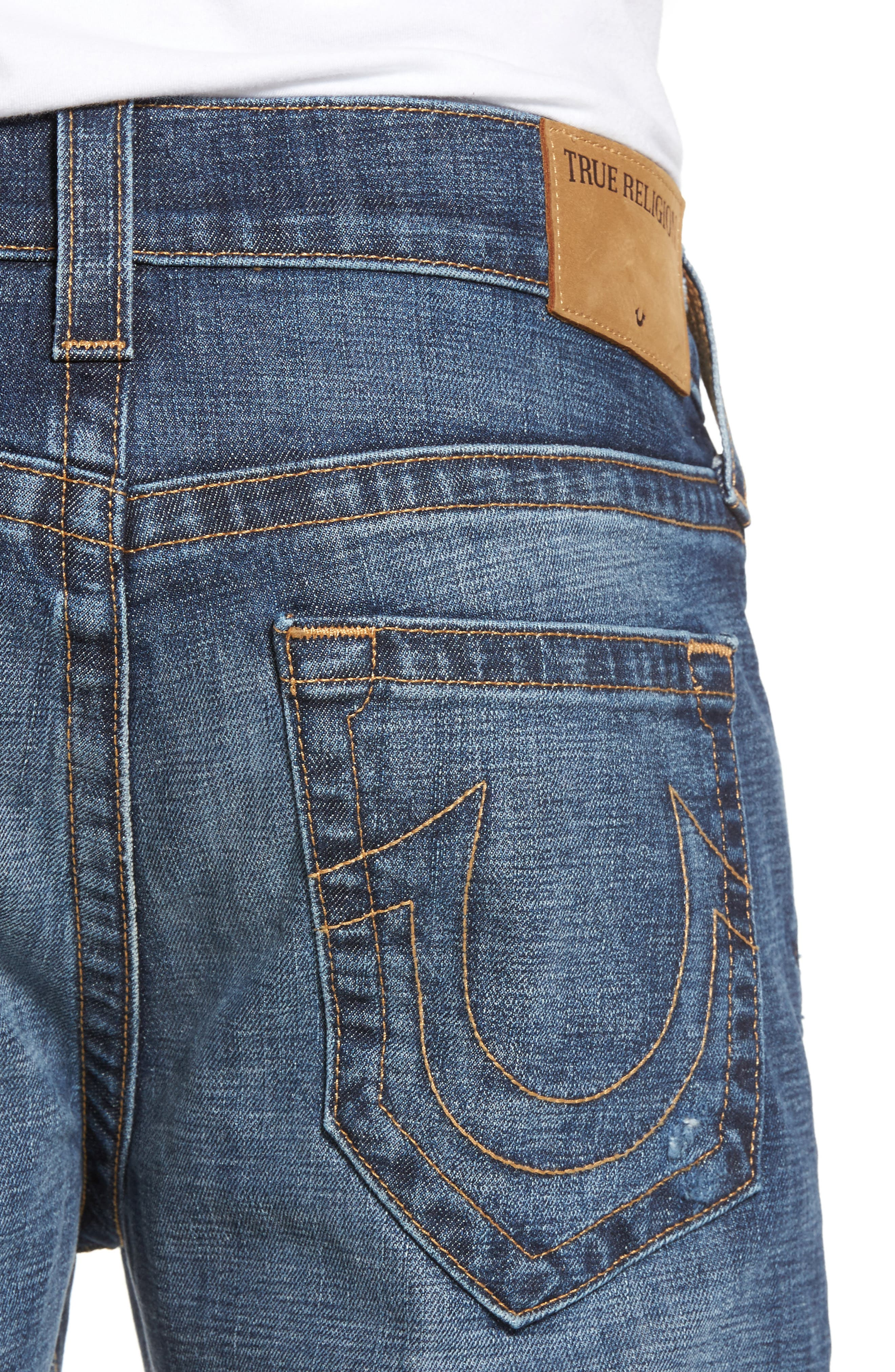 Rocco Skinny Fit Jeans,                             Alternate thumbnail 4, color,                             Dark Wash