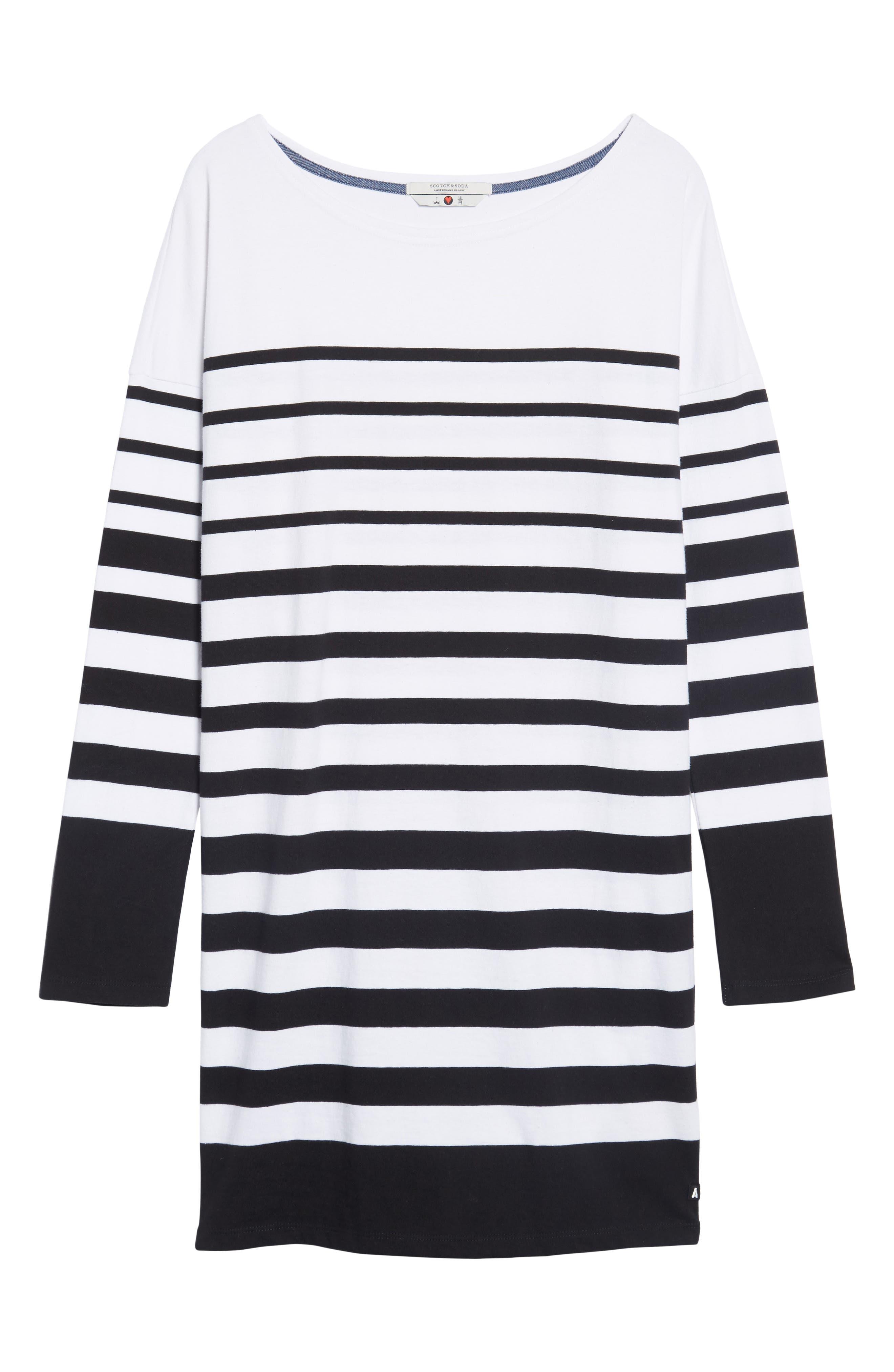 Alternate Image 6  - Scotch & Soda Breton Stripe Cotton Shift Dress