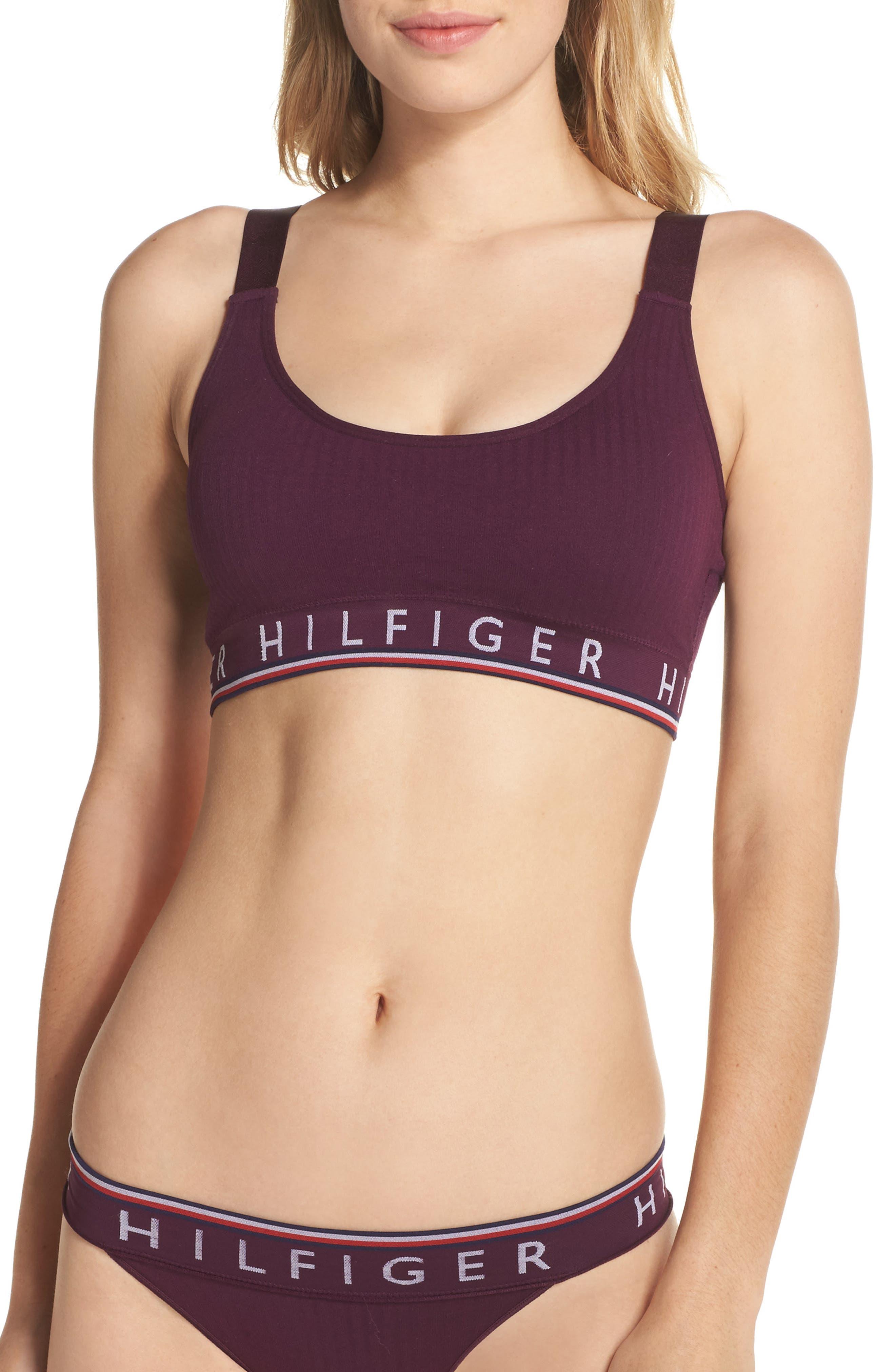 Alternate Image 1 Selected - Tommy Hilfiger Logo Ribbed Seamless Bralette